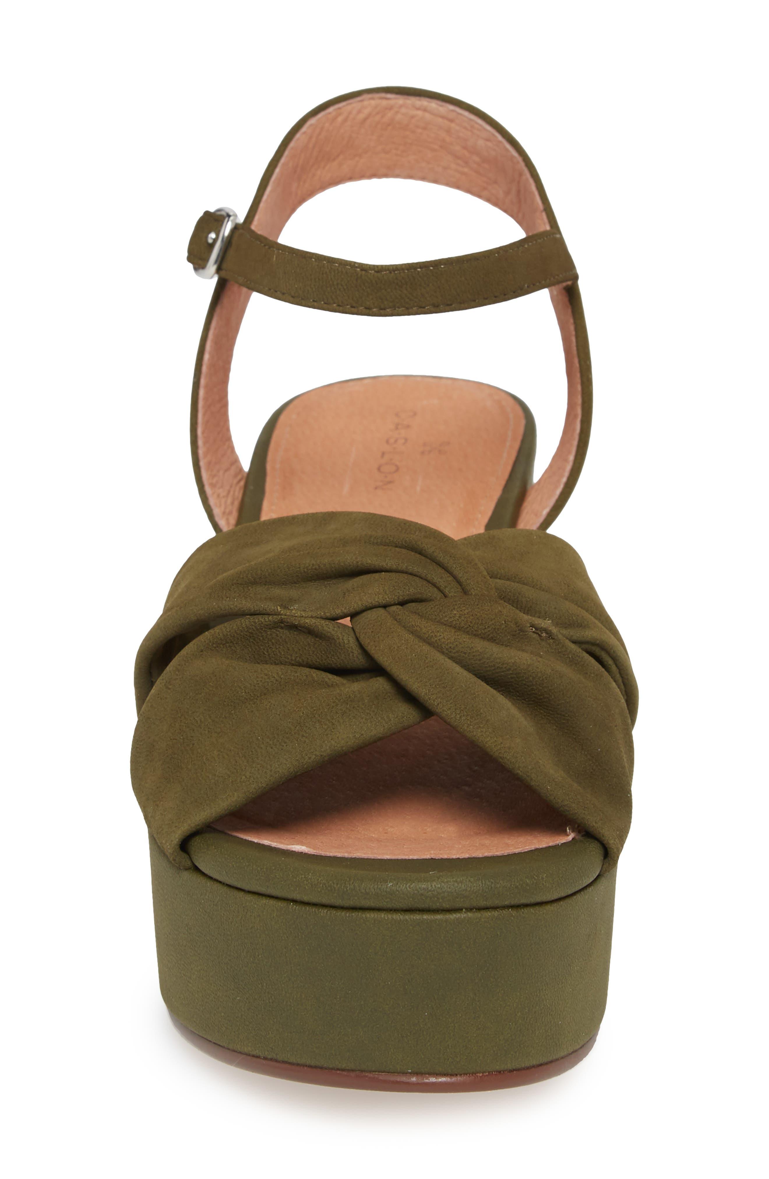 Ryder Platform Sandal,                             Alternate thumbnail 4, color,                             Olive Nubuck