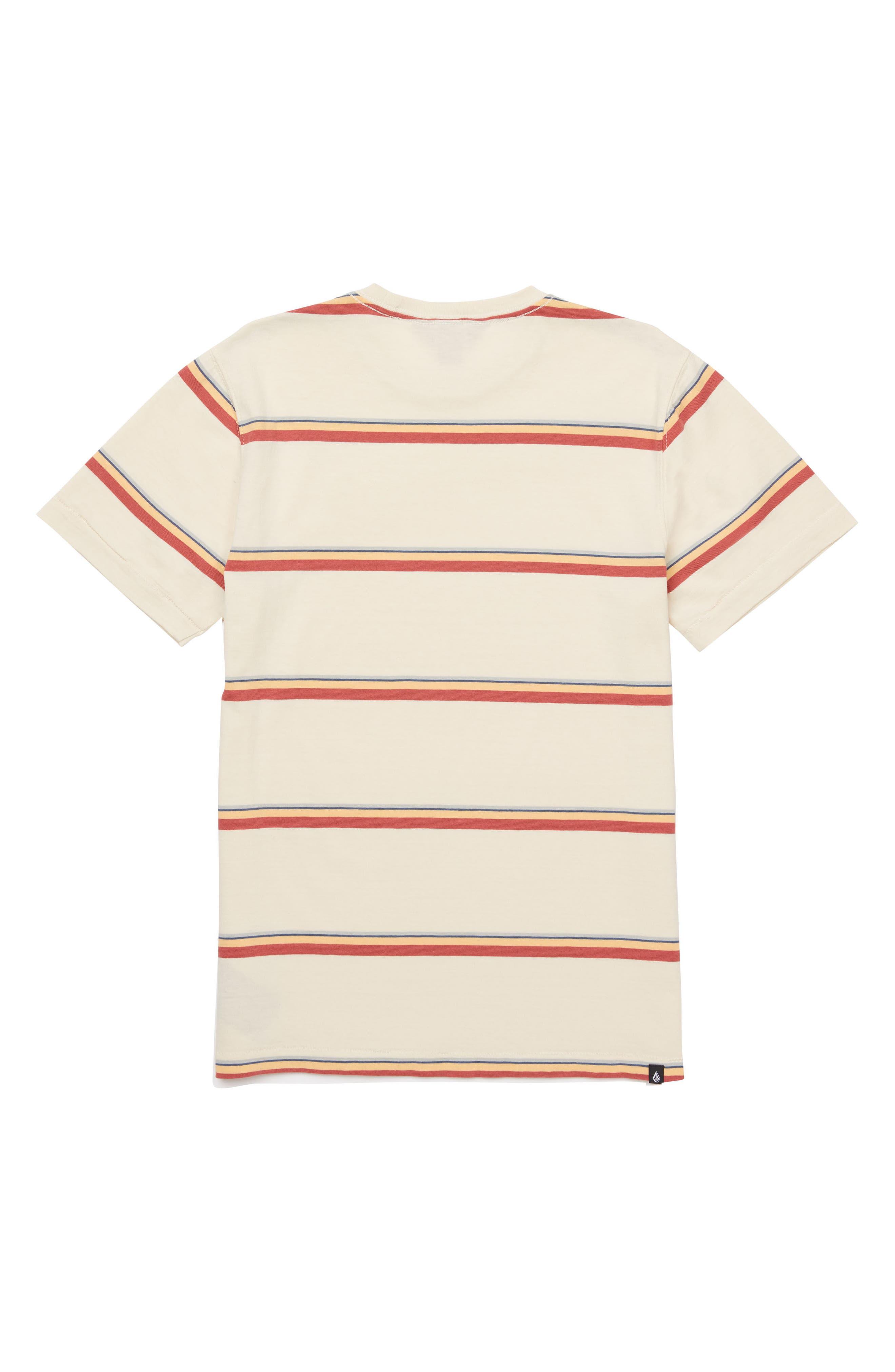 Sheldon Stripe Crewneck T-Shirt,                             Alternate thumbnail 2, color,                             White Flash