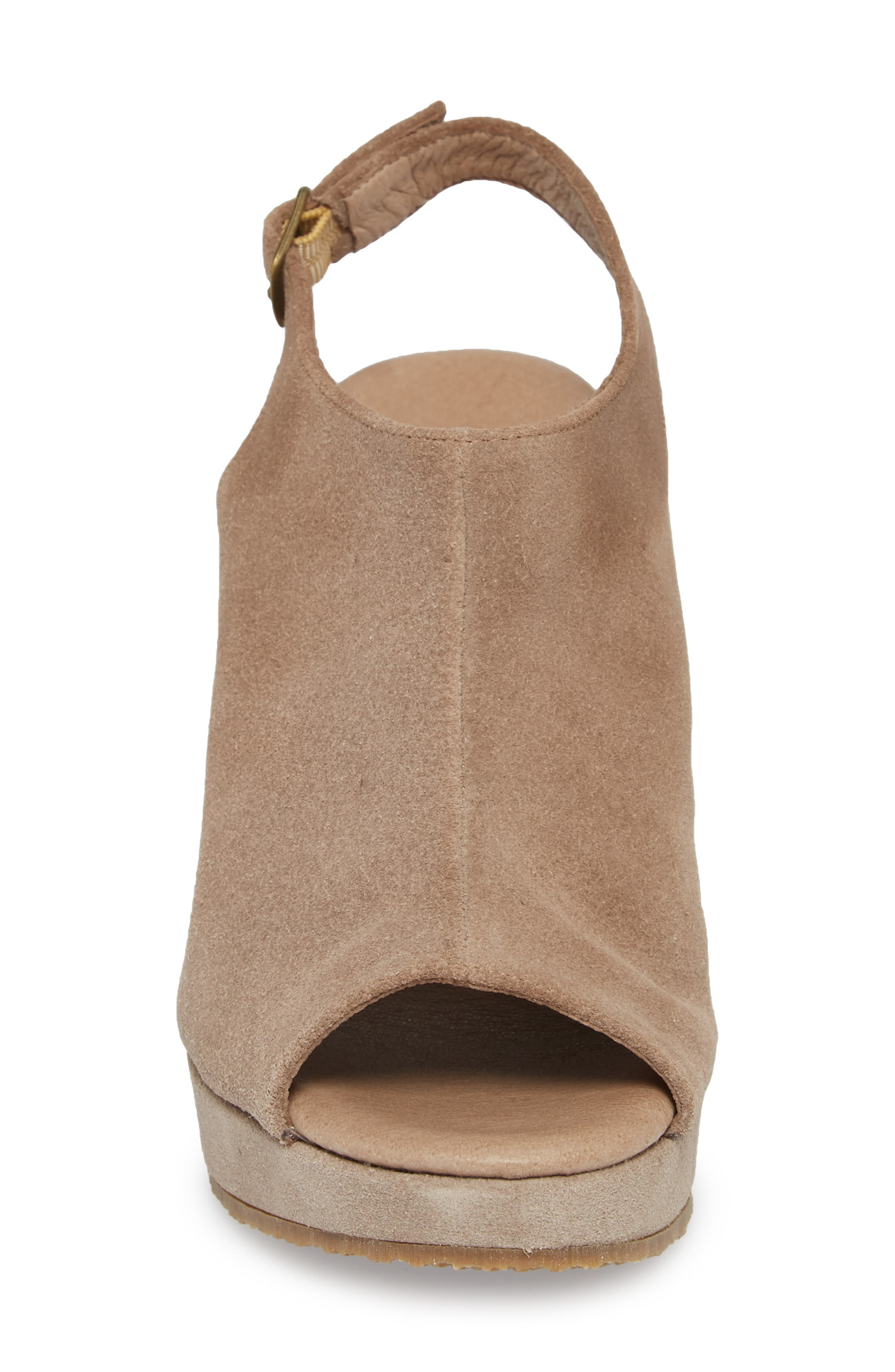 'Wellesley' Sandal,                             Alternate thumbnail 4, color,                             Taupe Suede