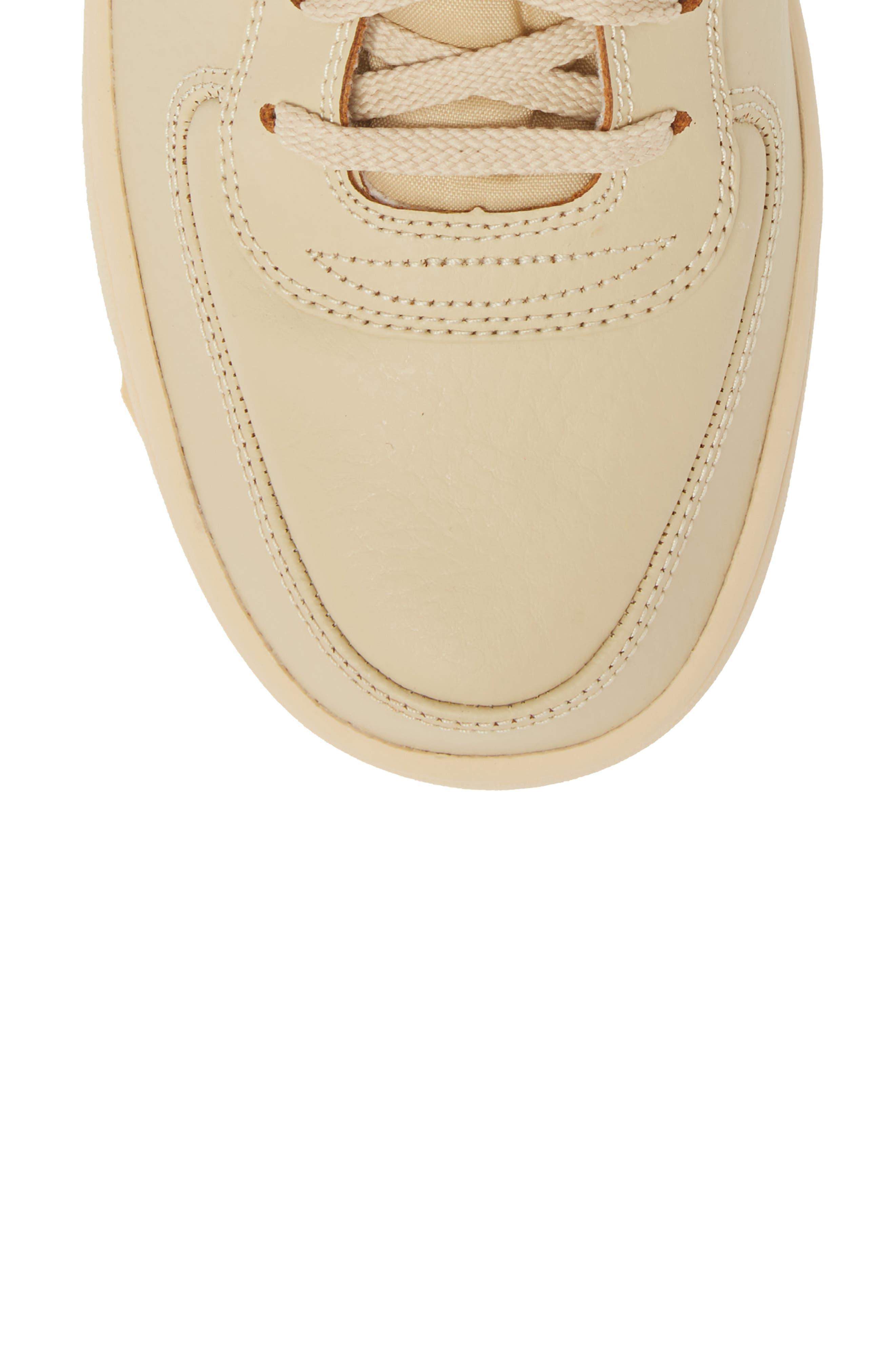 Vandal High Supreme Leather Sneaker,                             Alternate thumbnail 5, color,                             Desert Ore