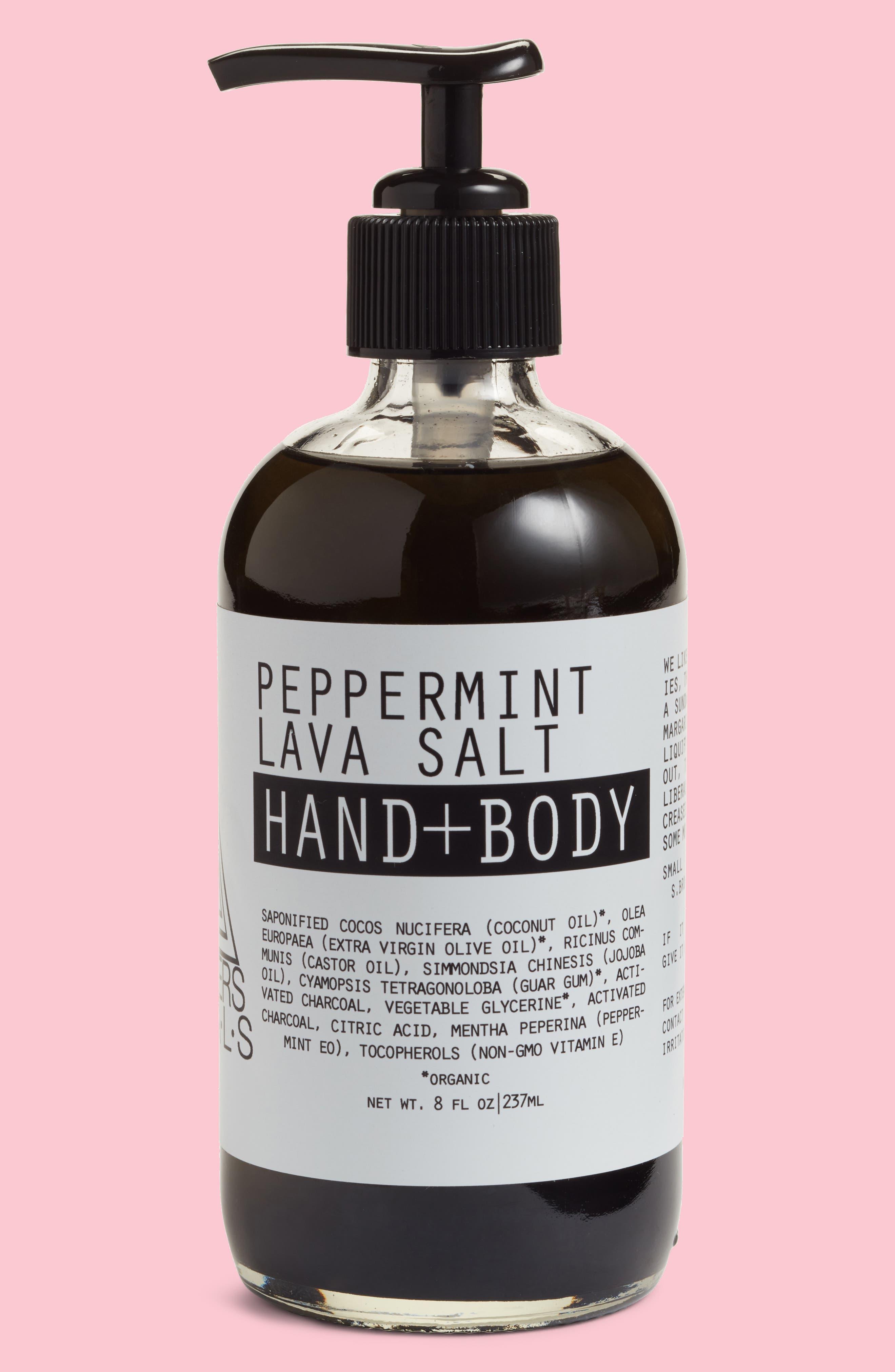 Moon Rivers Naturals Peppermint Lava Salt Hand & Body Wash