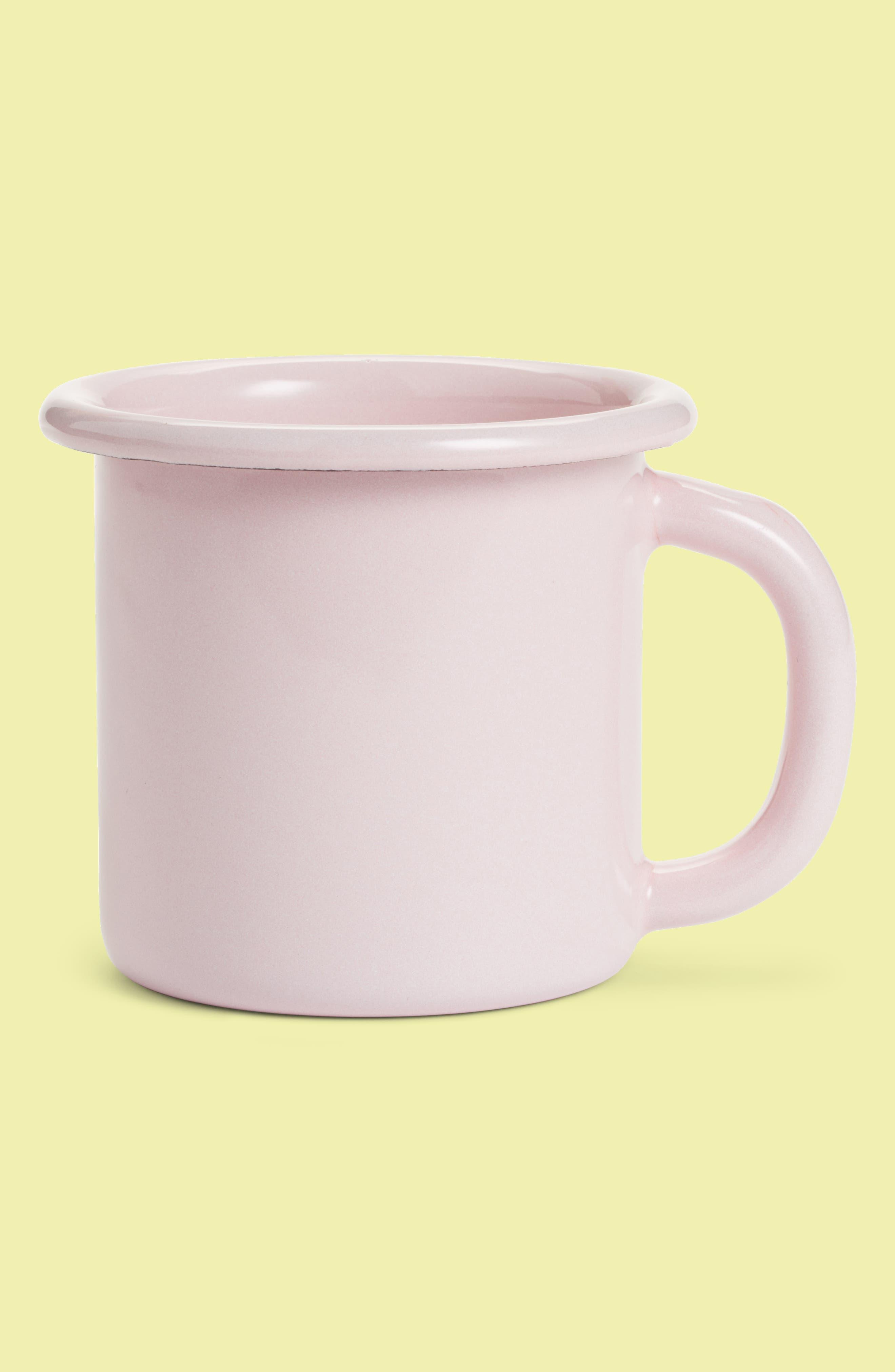 Enamel Mug,                             Main thumbnail 1, color,                             Soft Pink