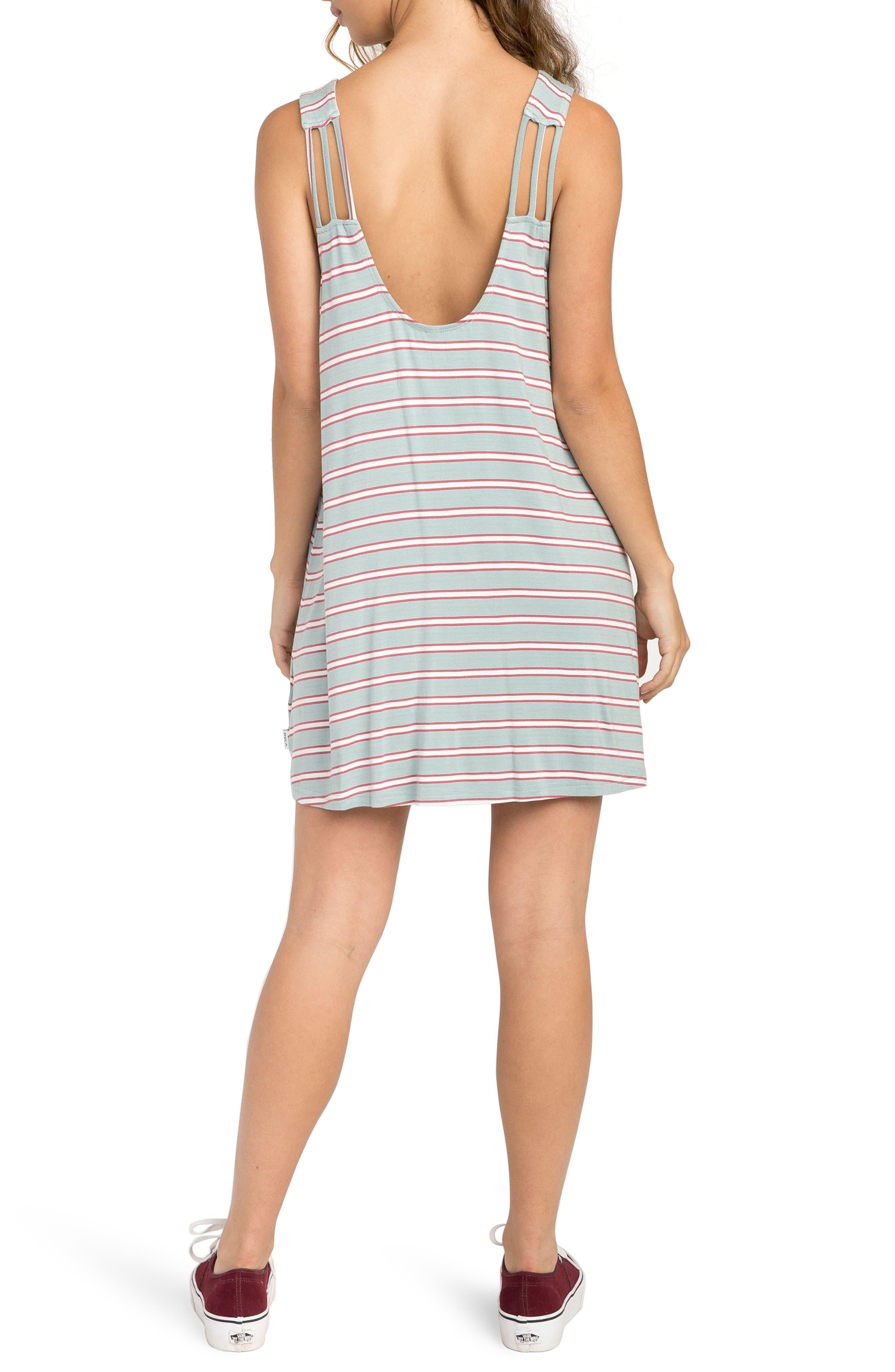 Lostlane Stripe Swing Dress,                             Alternate thumbnail 2, color,                             Cloud Blue