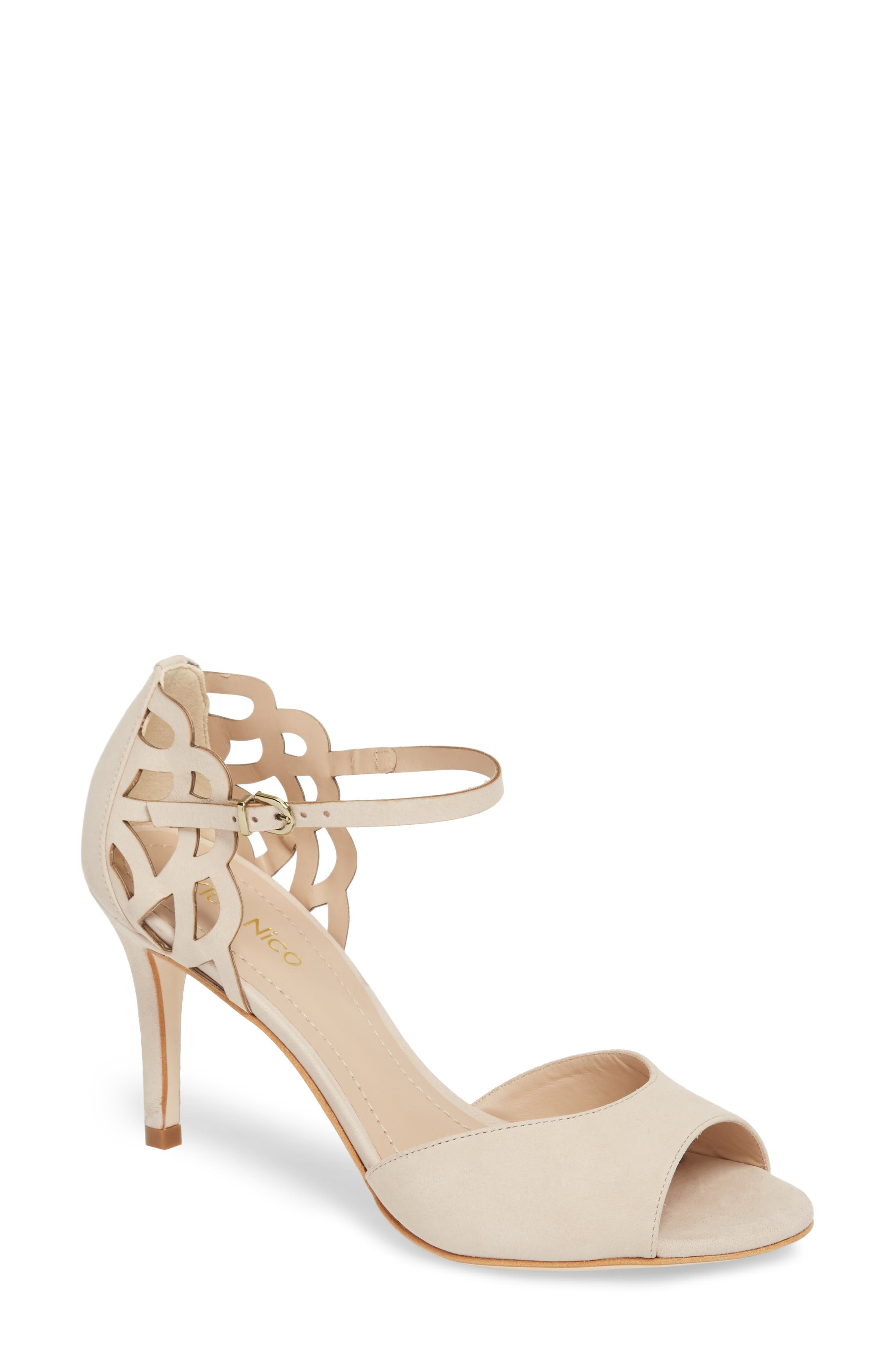 Adalie Sandal,                         Main,                         color, Nude Leather