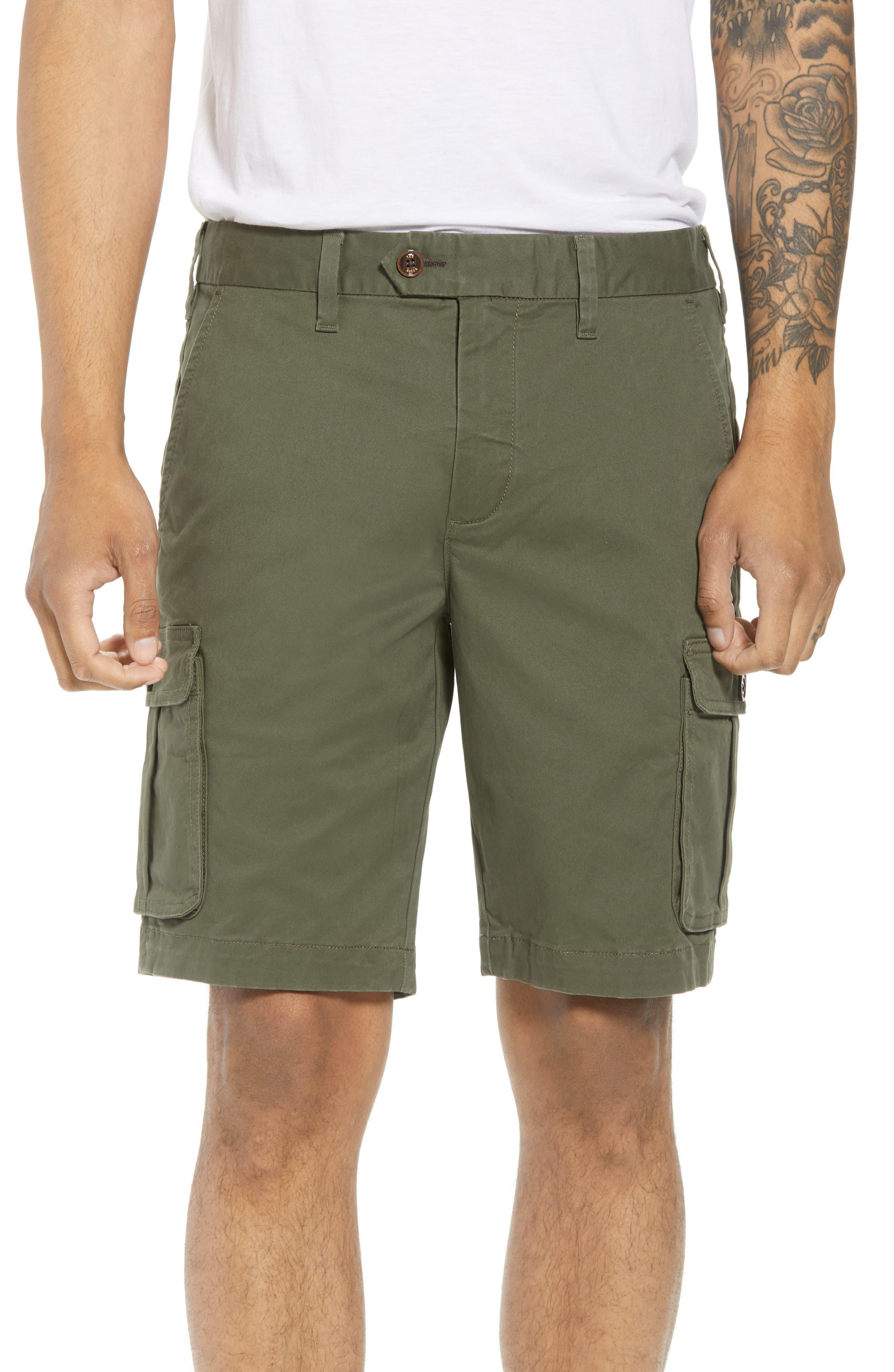 Ted Baker Cargogo Slim Fit Shorts,                         Main,                         color, Khaki