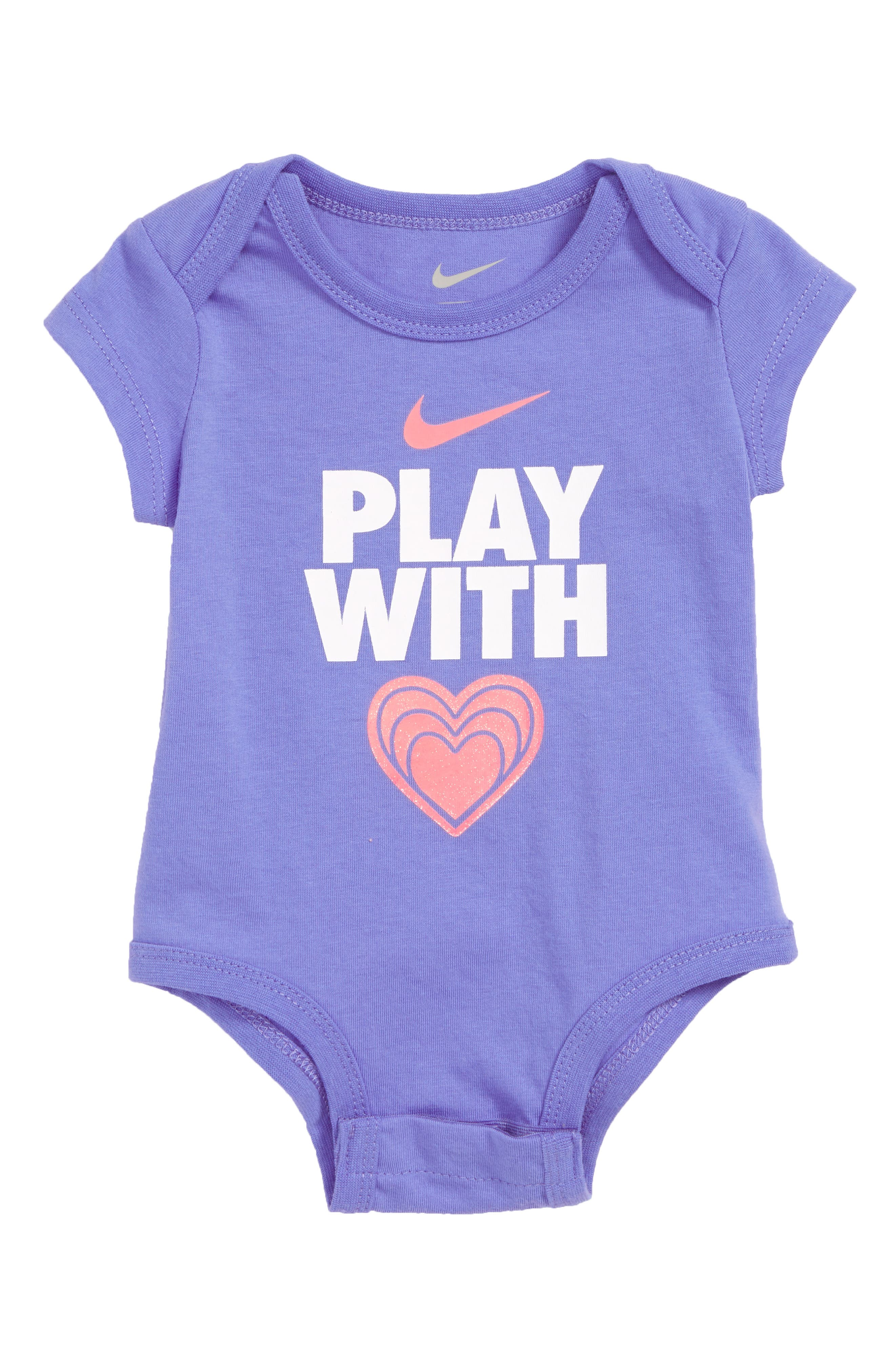 Nike Play with Heart Bodysuit (Baby Girls)