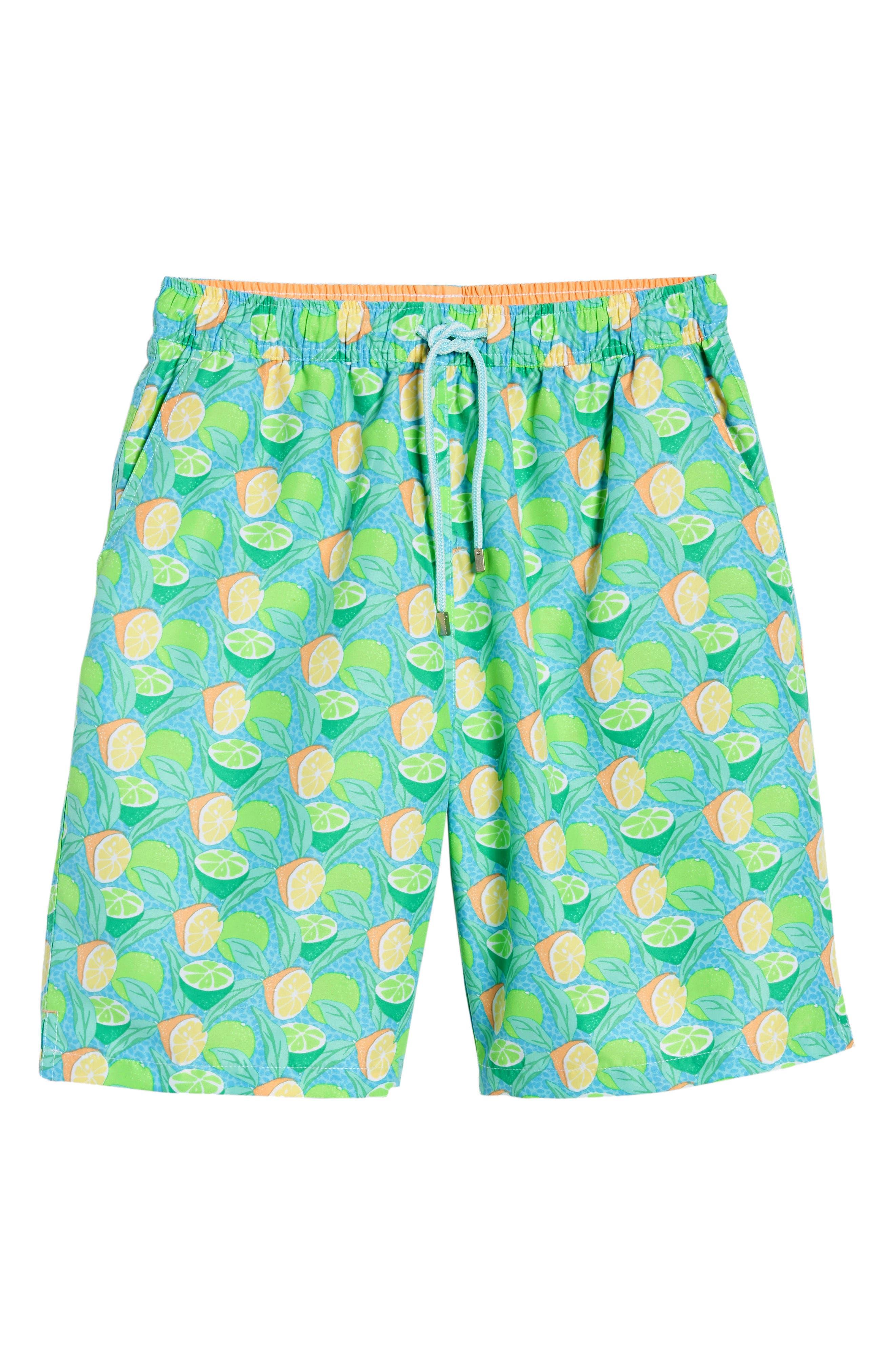 Sour Lemons Swim Trunks,                             Alternate thumbnail 6, color,                             Watercress