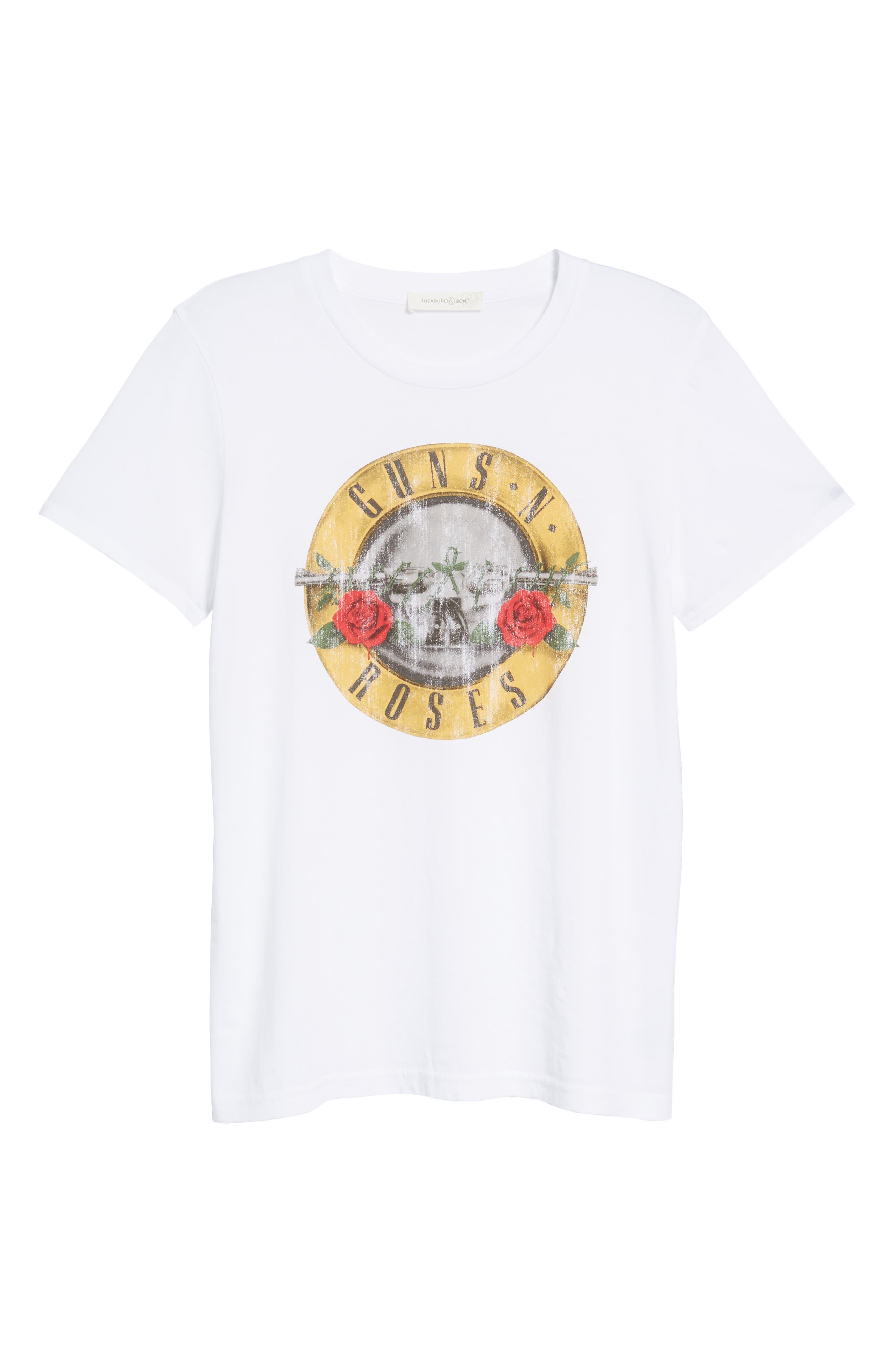 Guns N Roses Graphic Tee,                             Alternate thumbnail 6, color,                             White Combo