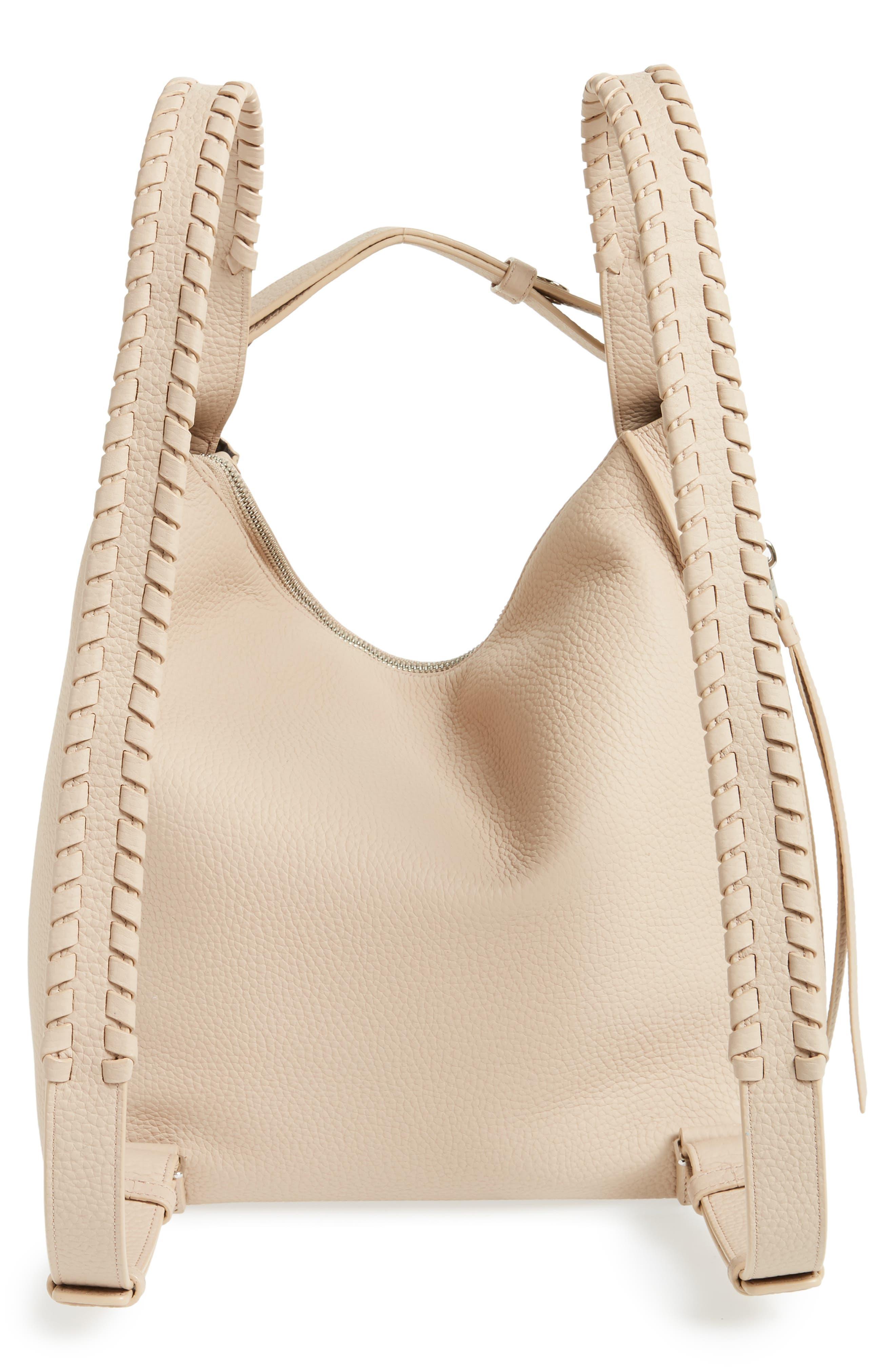 Small Kita Convertible Leather Backpack,                             Alternate thumbnail 3, color,                             Natural