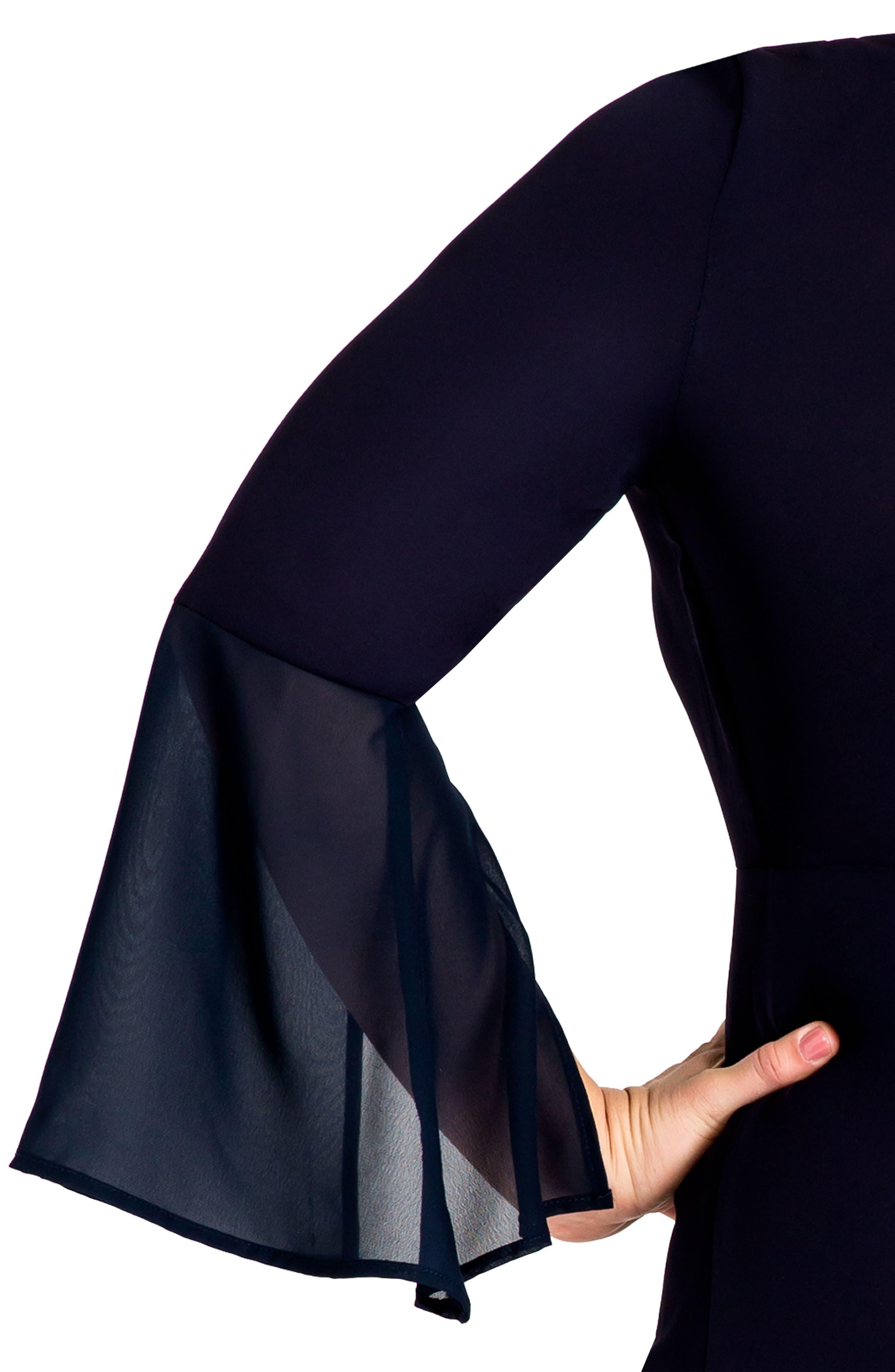 Norah Maxi Dress,                             Alternate thumbnail 4, color,                             Navy