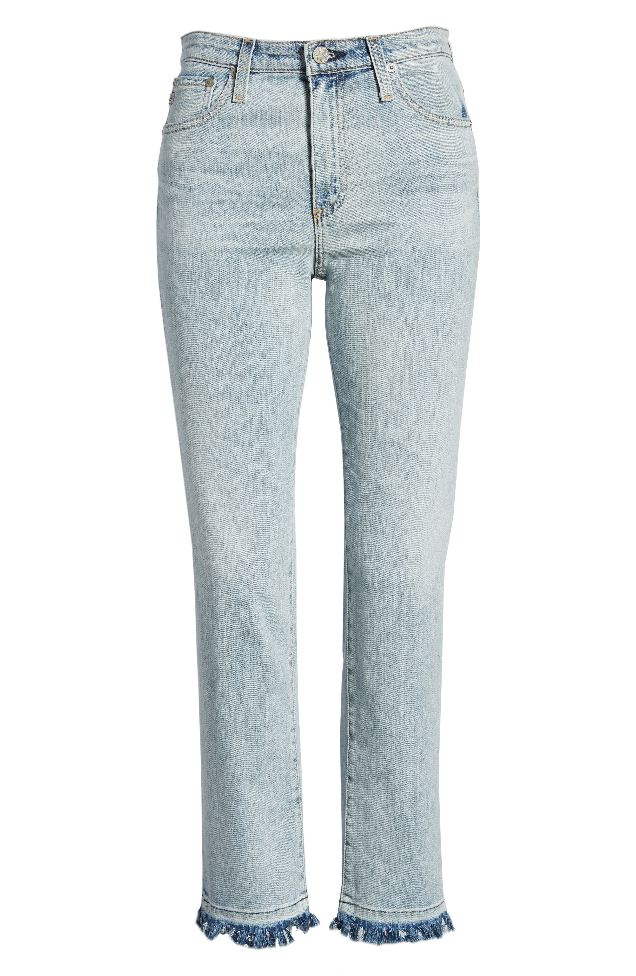 The Isabelle High Waist Crop Straight Leg Jeans,                             Alternate thumbnail 7, color,                             21 Years-Reflection