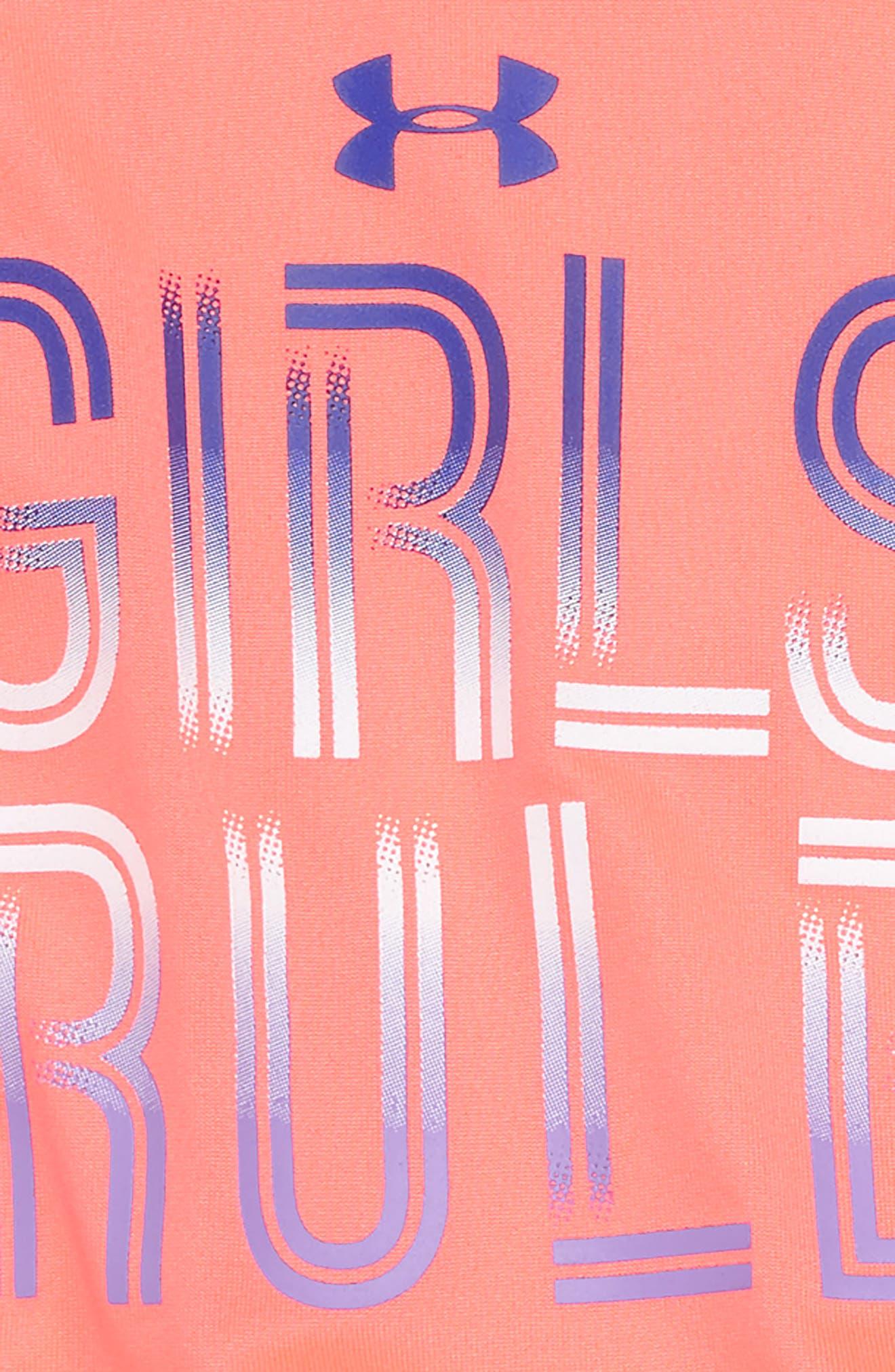 Girls Rule Tee & Shorts Set,                             Alternate thumbnail 2, color,                             Brillance