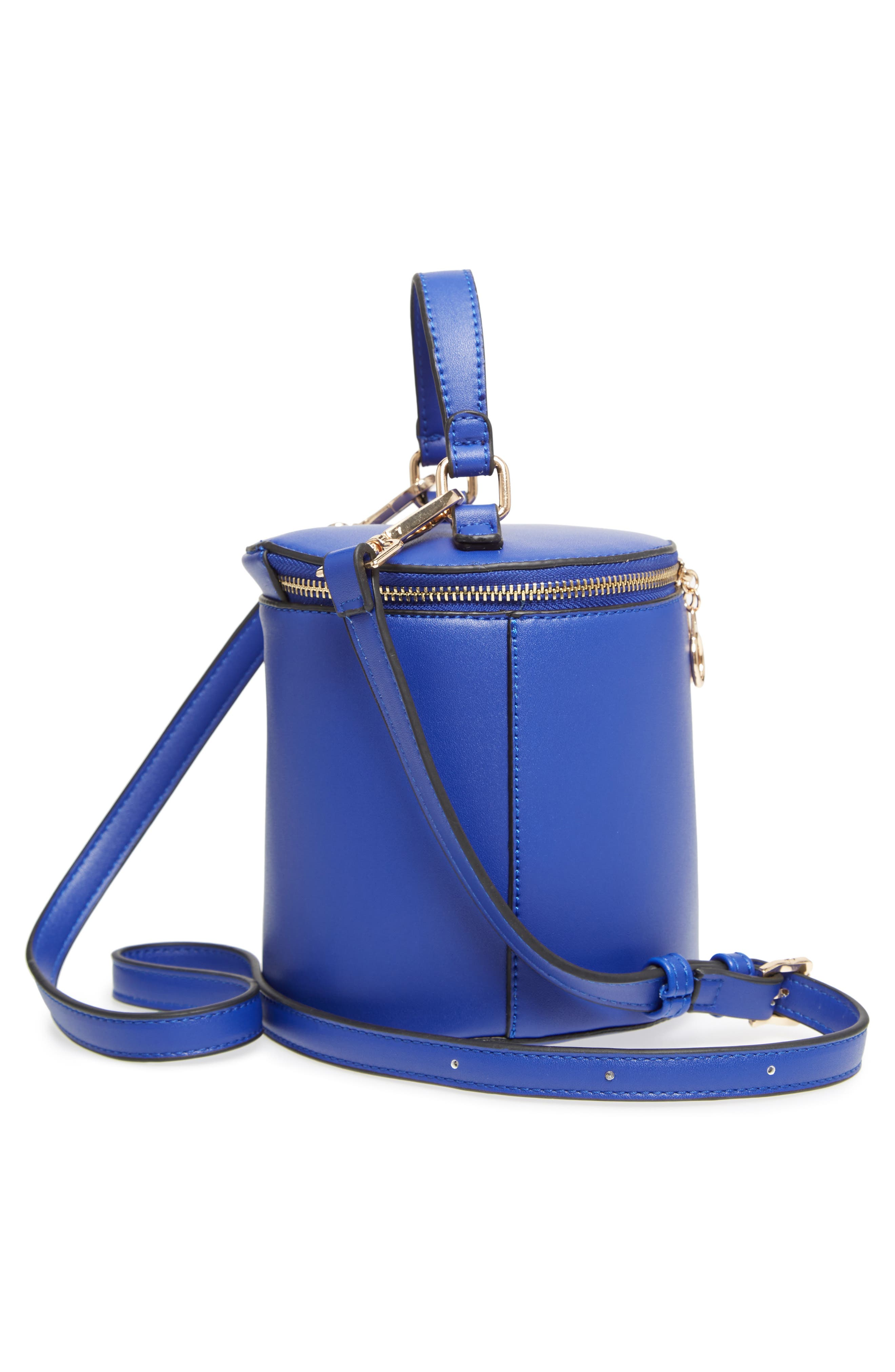 Top Handle Cylinder Bag,                             Alternate thumbnail 5, color,                             Cobalt
