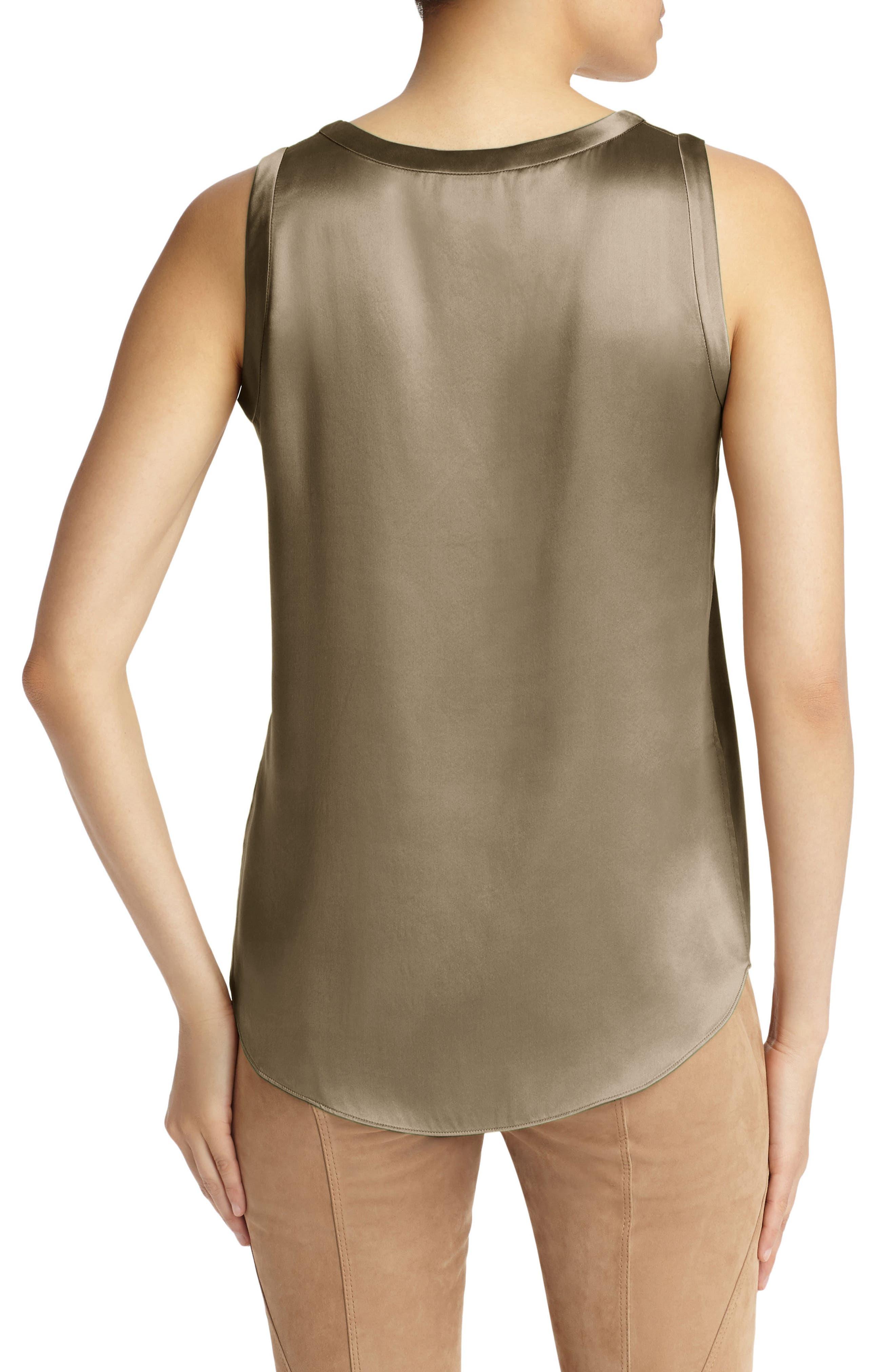 Perla Reversible Silk Blouse,                             Alternate thumbnail 2, color,                             Portobello