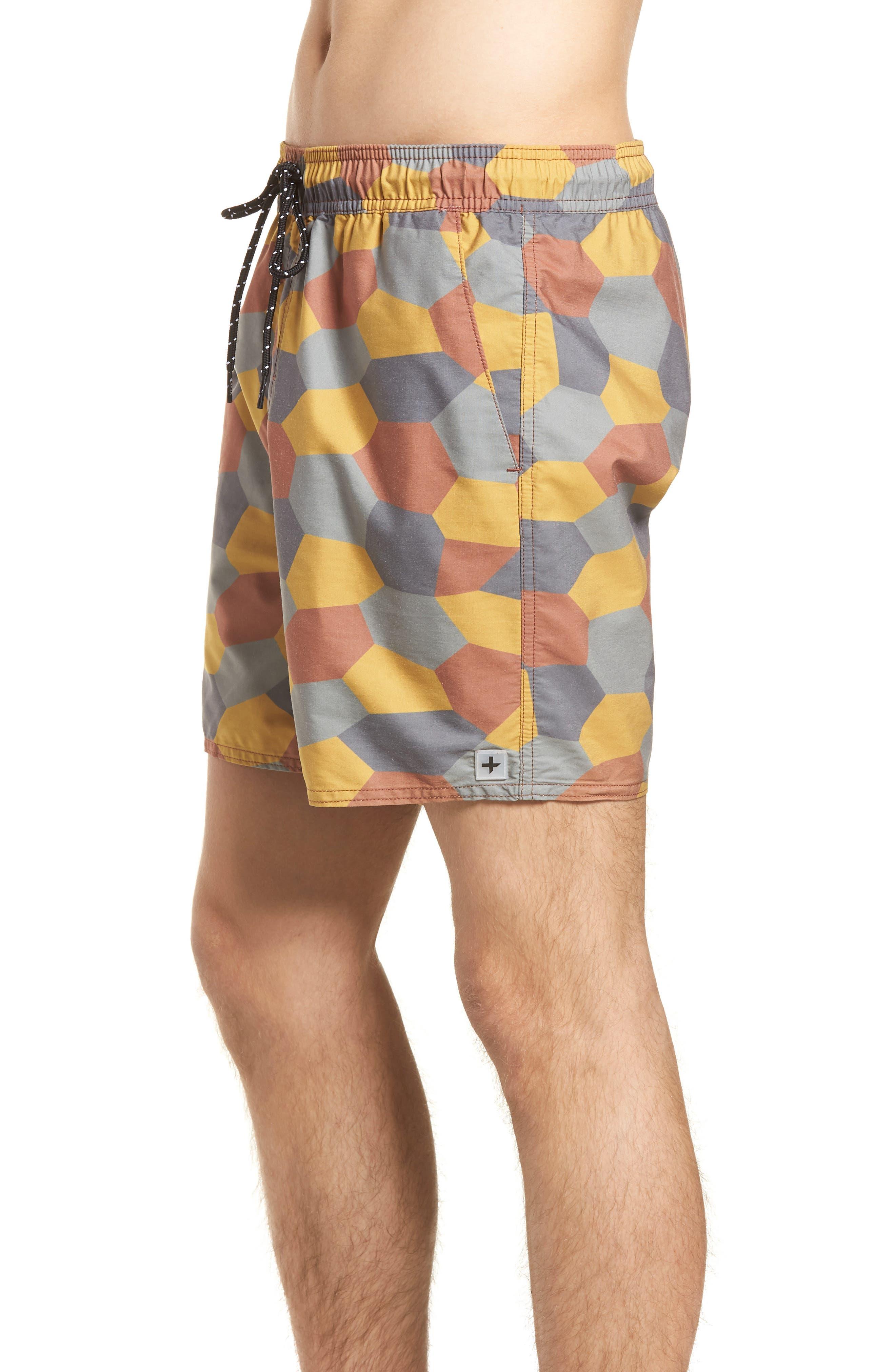 Belmont Pool Shorts,                             Alternate thumbnail 3, color,                             Coastal Orange Geo Camo
