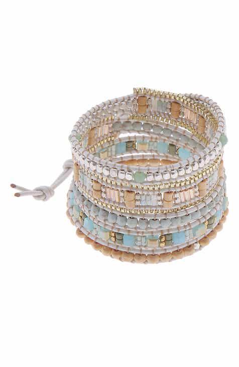 Nakamol Design Square Bead Wrap Bracelet