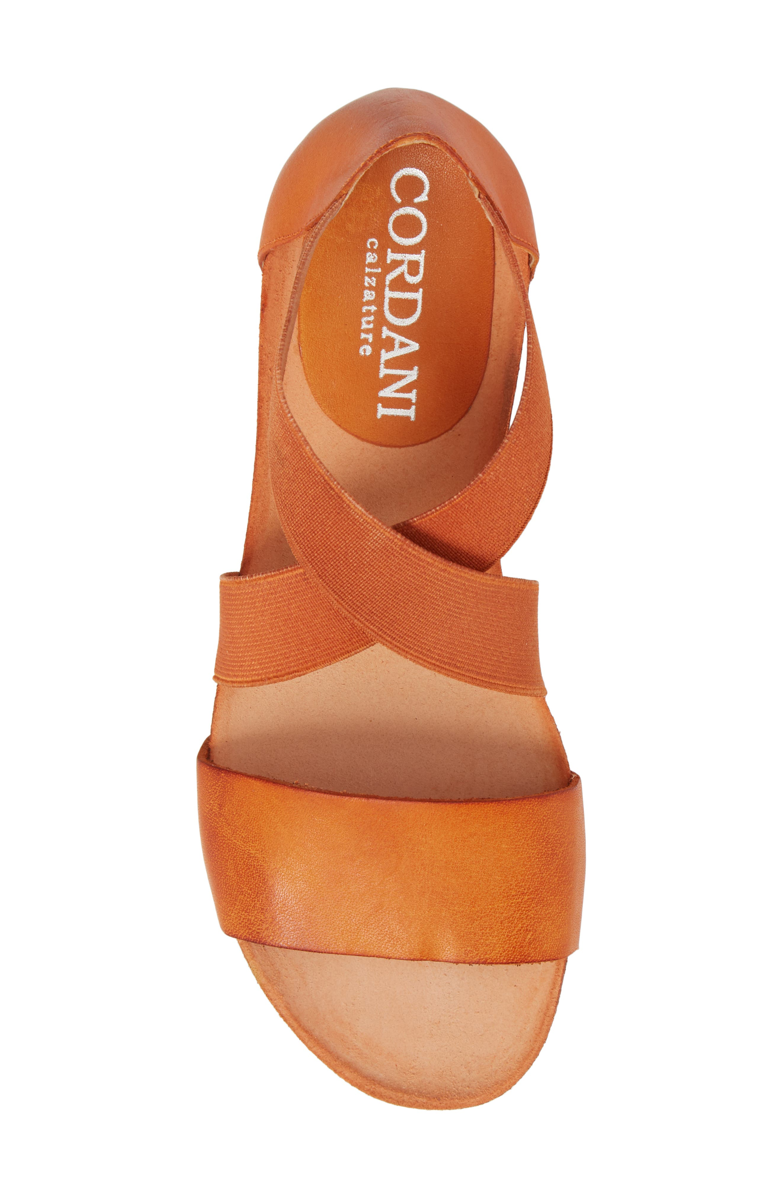 Sayger Sandal,                             Alternate thumbnail 5, color,                             Orange Leather