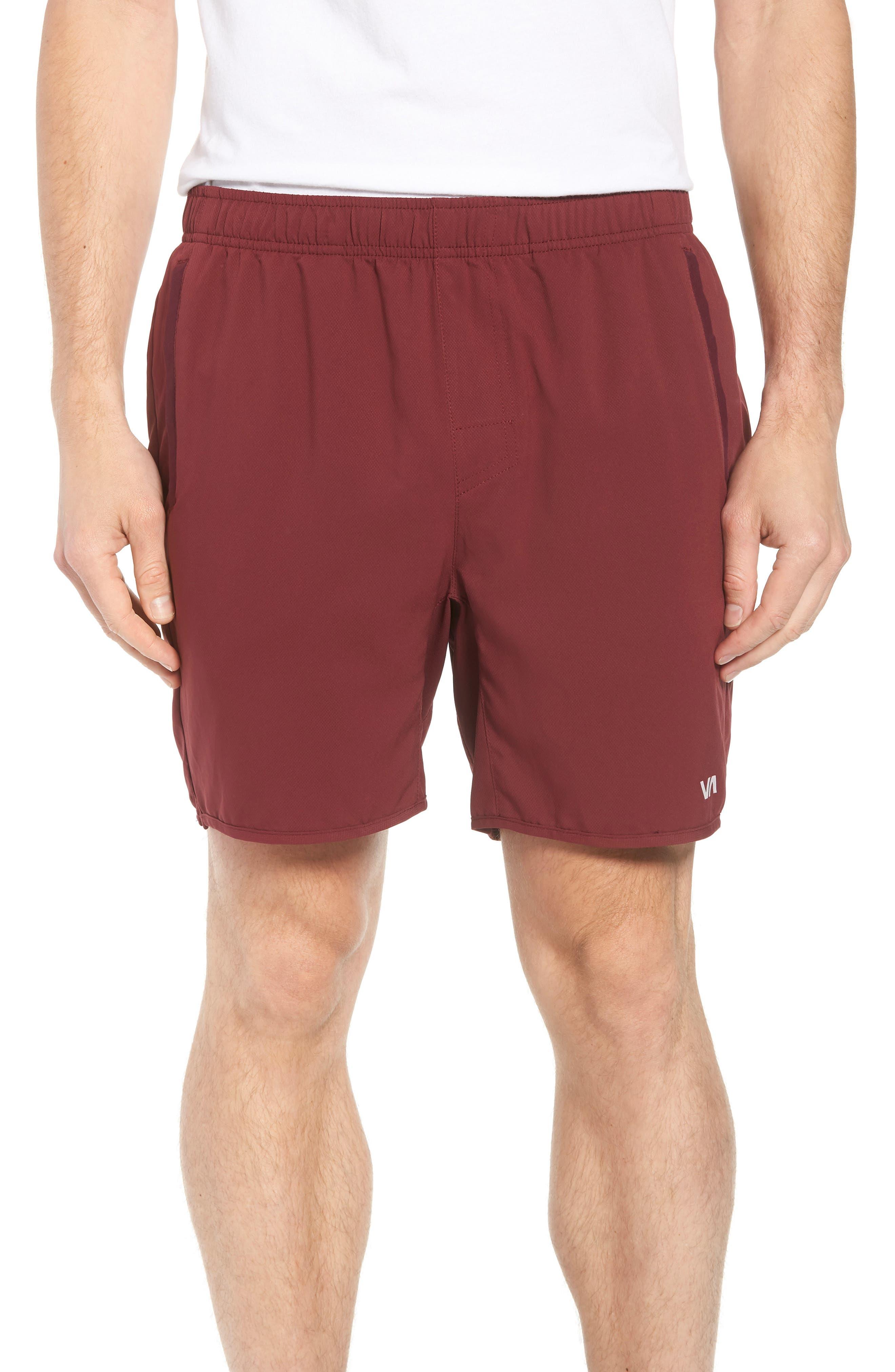 Yogger III Athletic Shorts,                             Main thumbnail 1, color,                             Tawny Port
