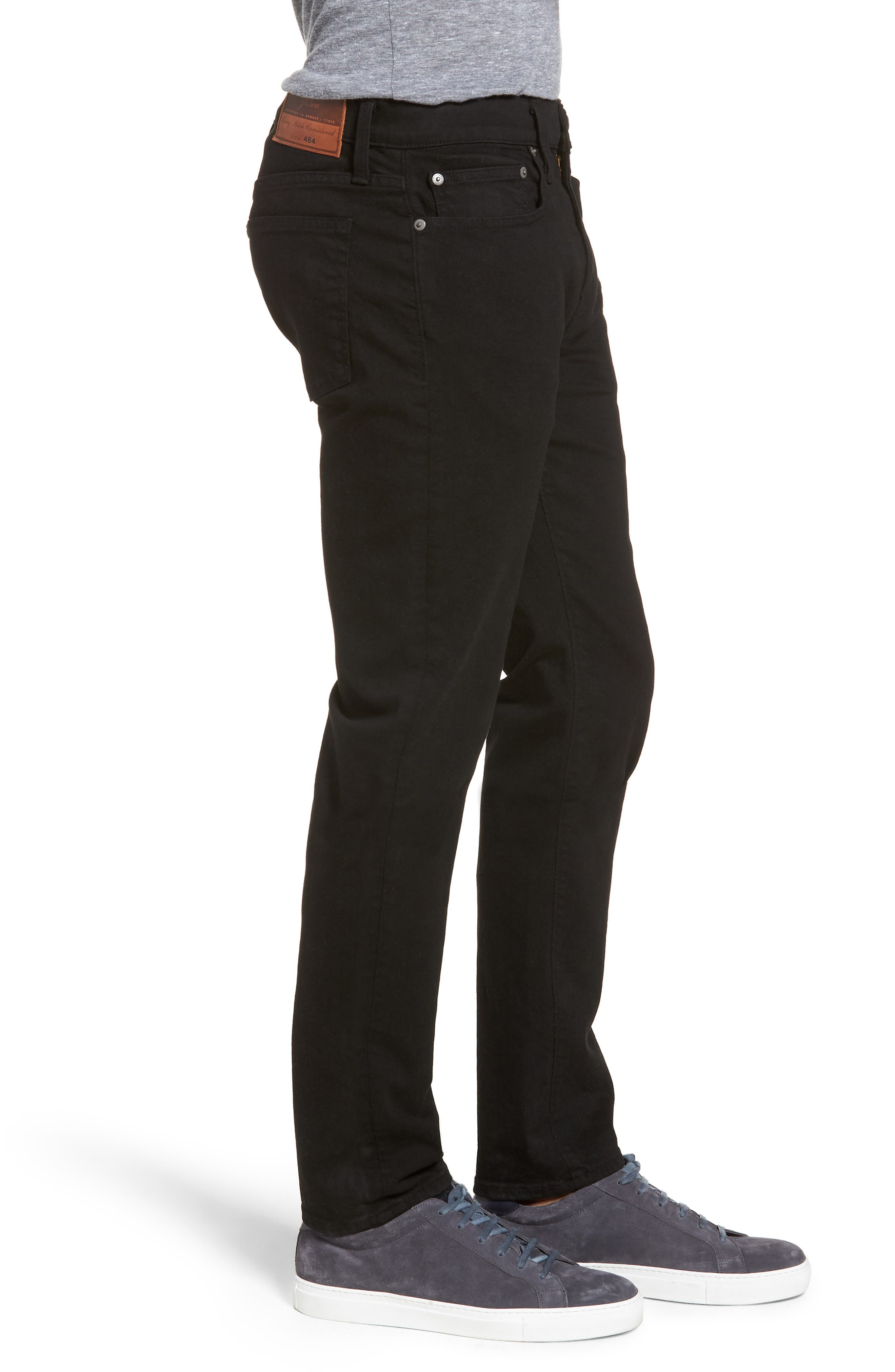 484 Slim Fit Stretch Jeans,                             Alternate thumbnail 3, color,                             Stretch Black