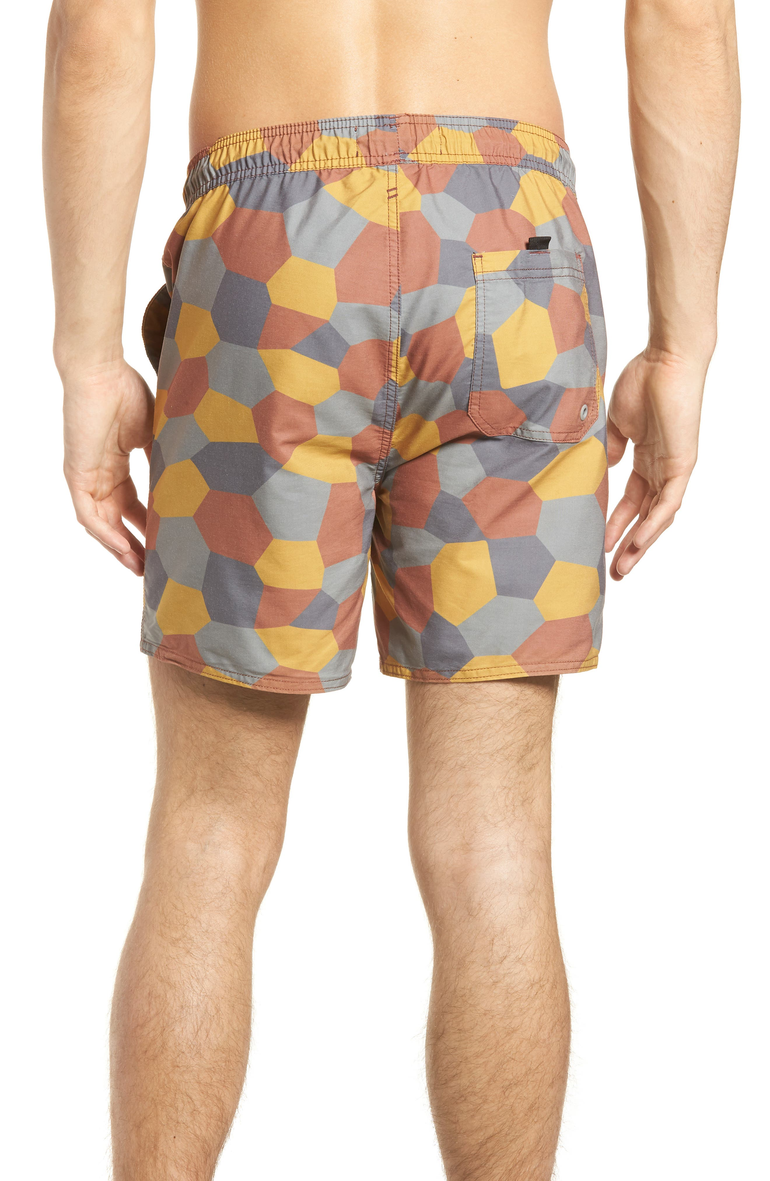 Belmont Pool Shorts,                             Alternate thumbnail 2, color,                             Coastal Orange Geo Camo
