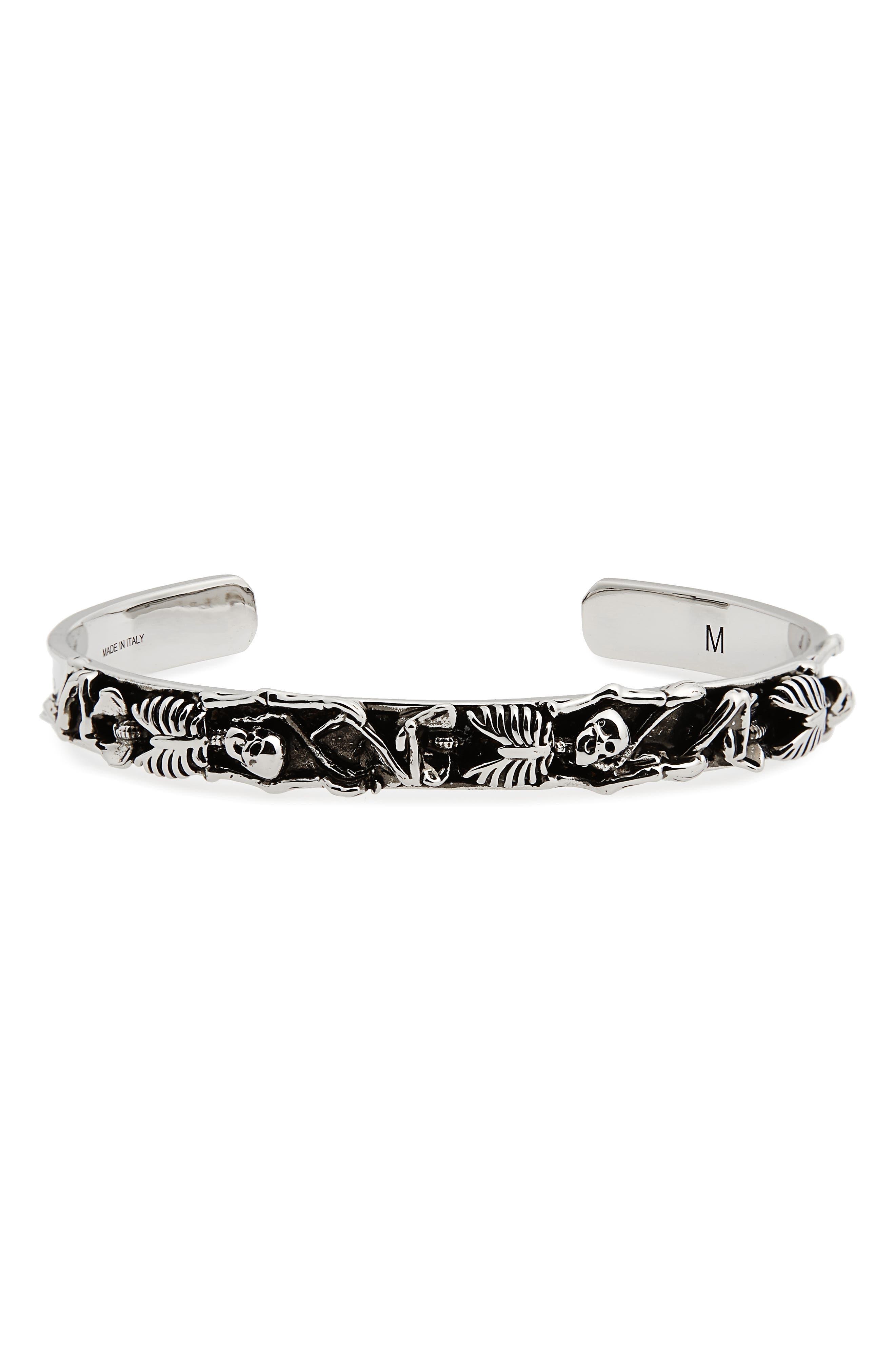 Alexander McQueen Dancing Skeleton Cuff Bracelet