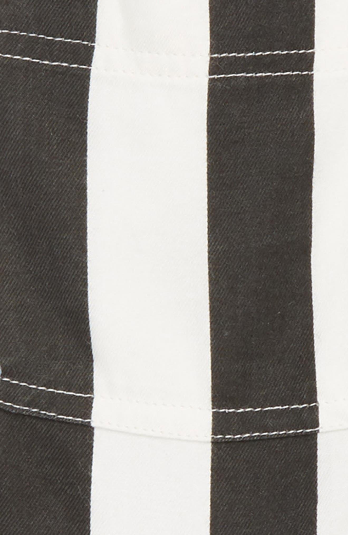 Roamin Stripe Short Overalls,                             Alternate thumbnail 2, color,                             Black