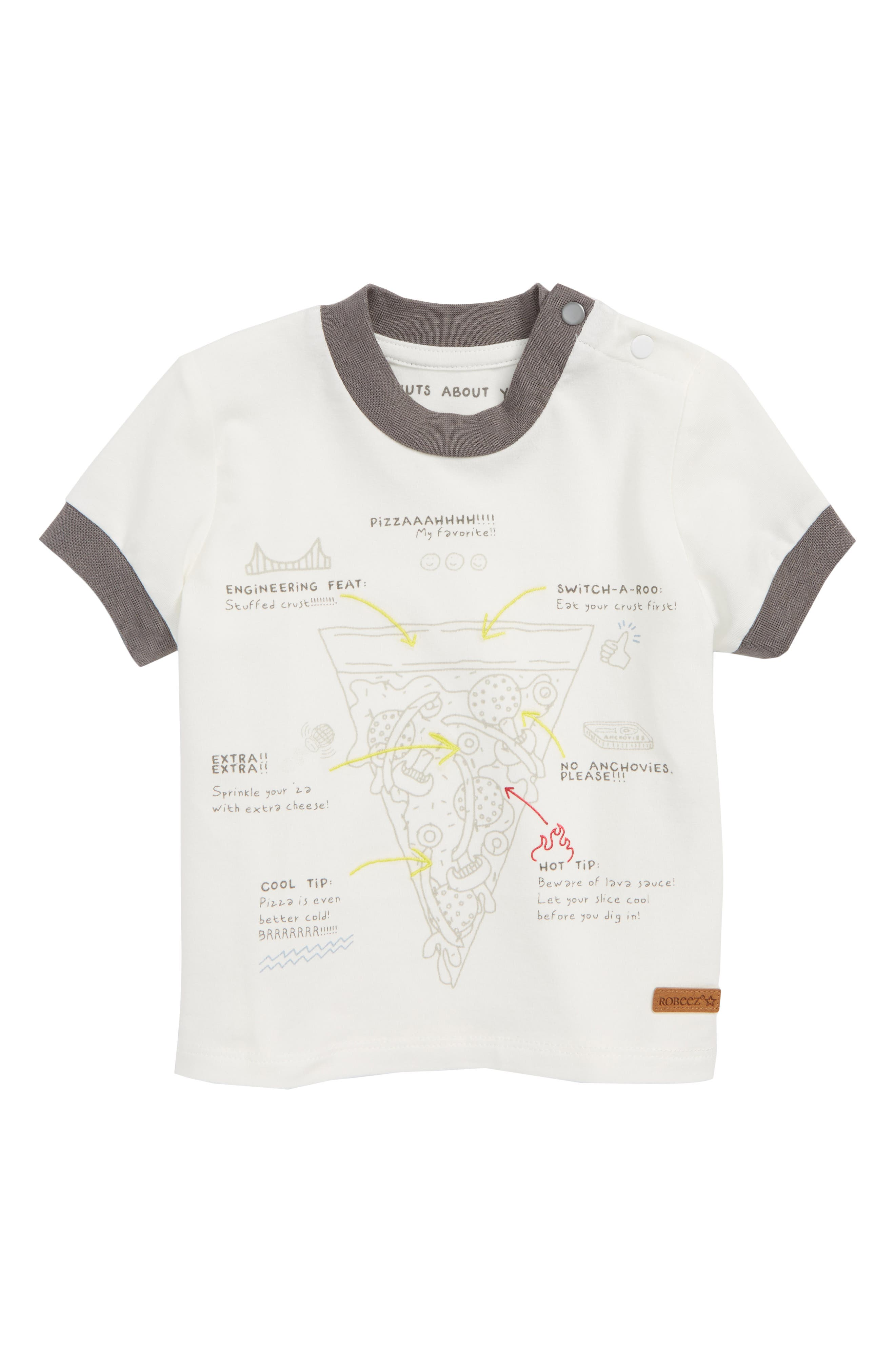 Pizza Tee,                         Main,                         color, White