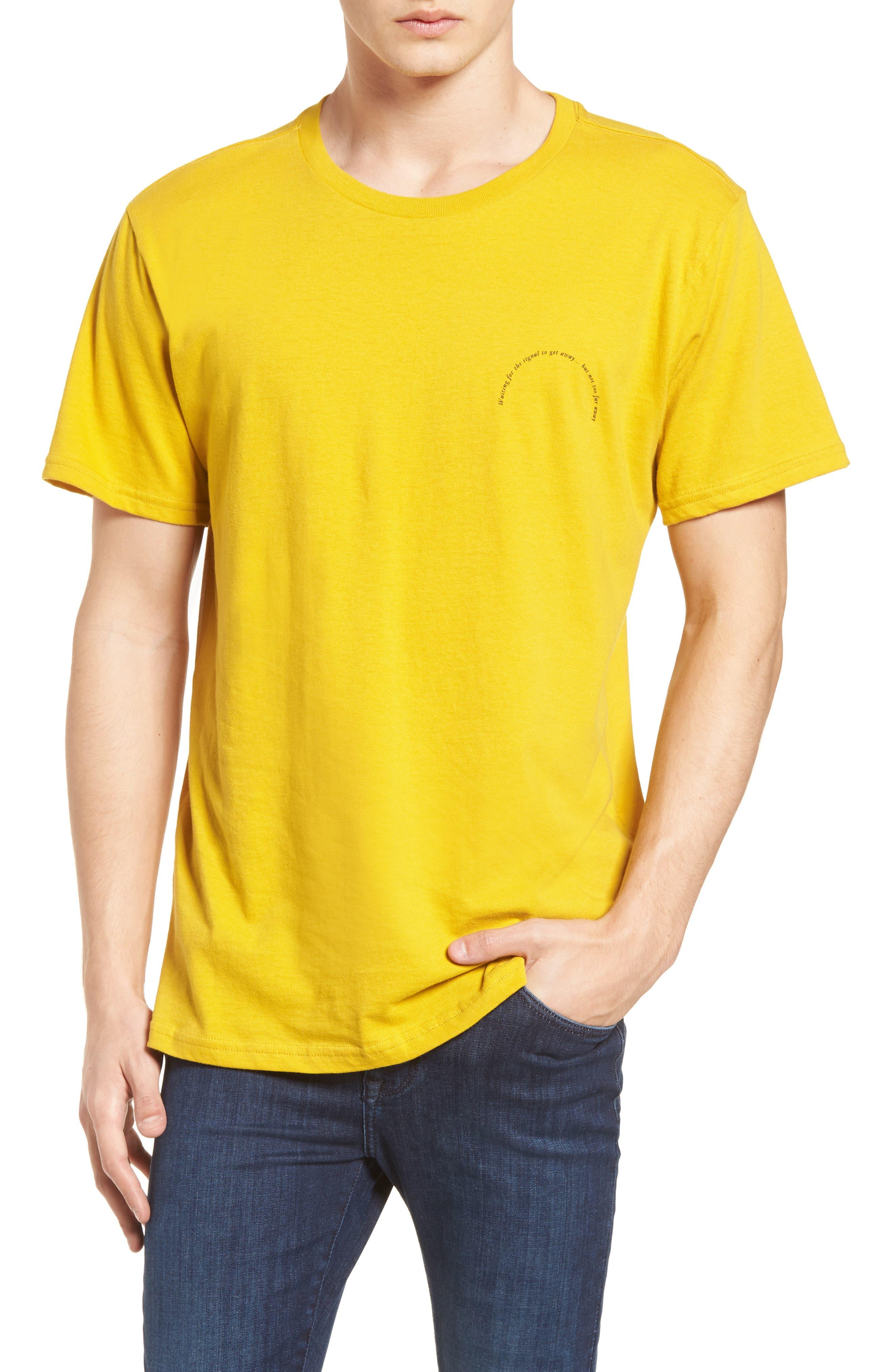 Twin Palms Graphic T-Shirt,                             Main thumbnail 1, color,                             Mustard Yellow