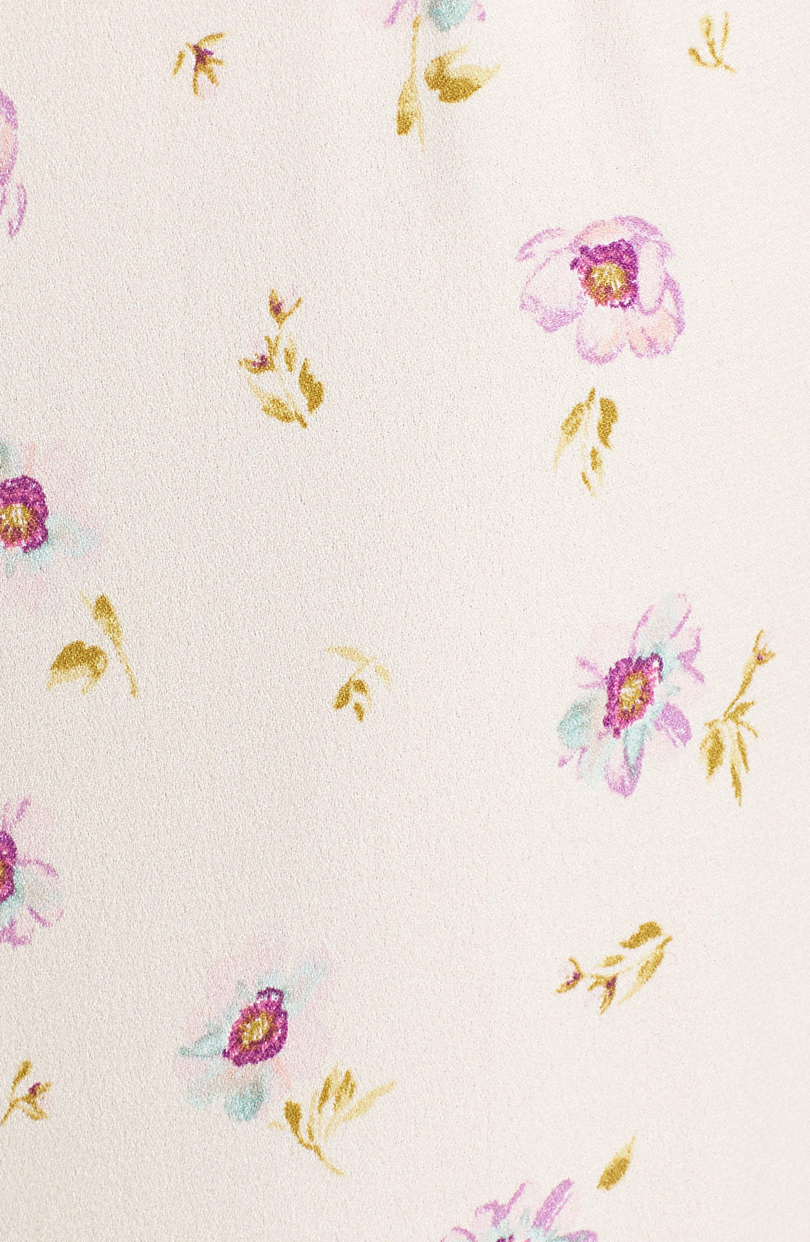 Carter High Waist Wide Leg Pants,                             Alternate thumbnail 6, color,                             Lilac Floral