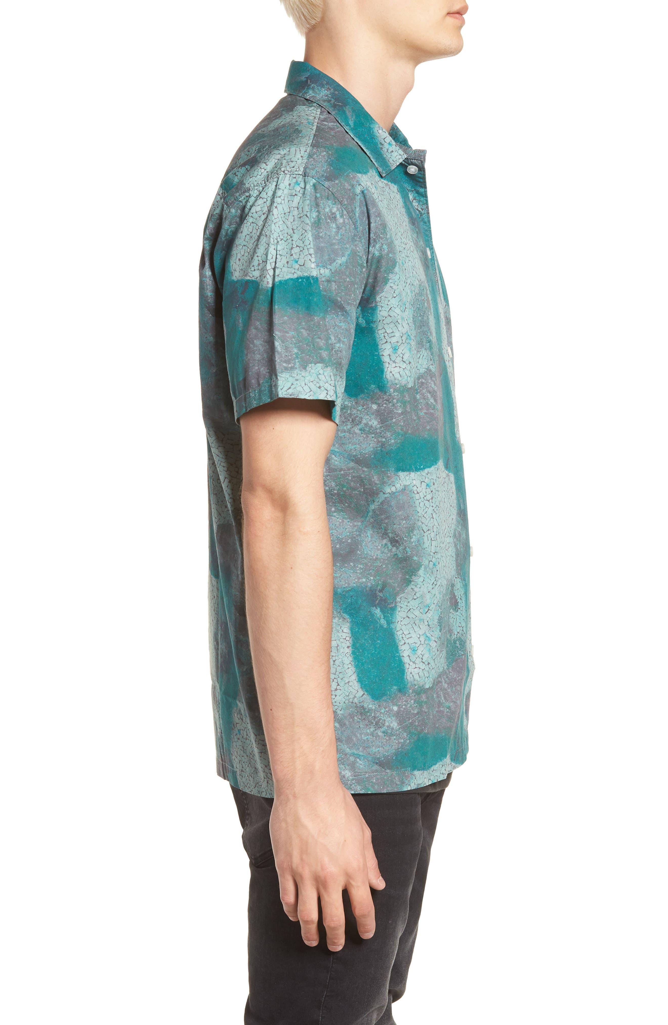 Villa Desert Woven Shirt,                             Alternate thumbnail 4, color,                             Pacific Green Desert