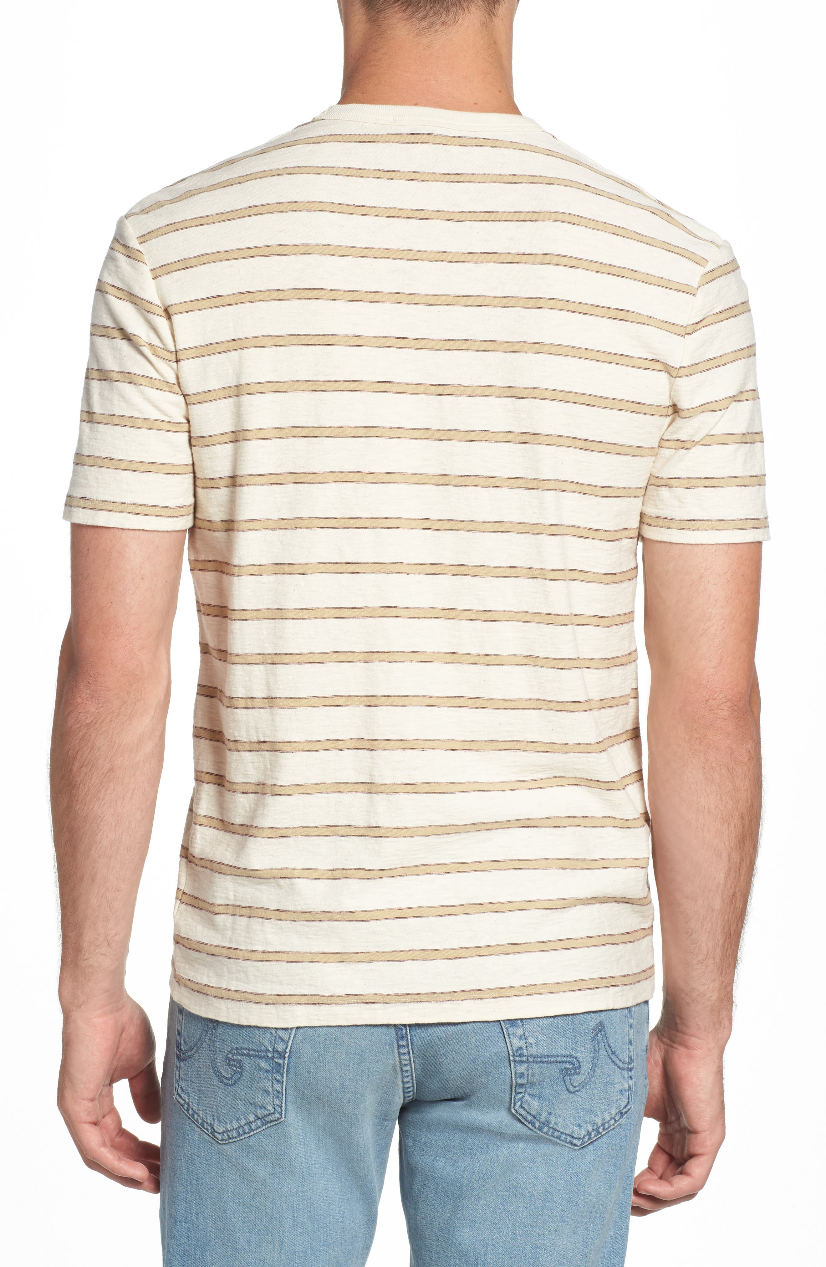 Vintage Stripe Pocket T-Shirt,                             Alternate thumbnail 2, color,                             Cotton Stripe