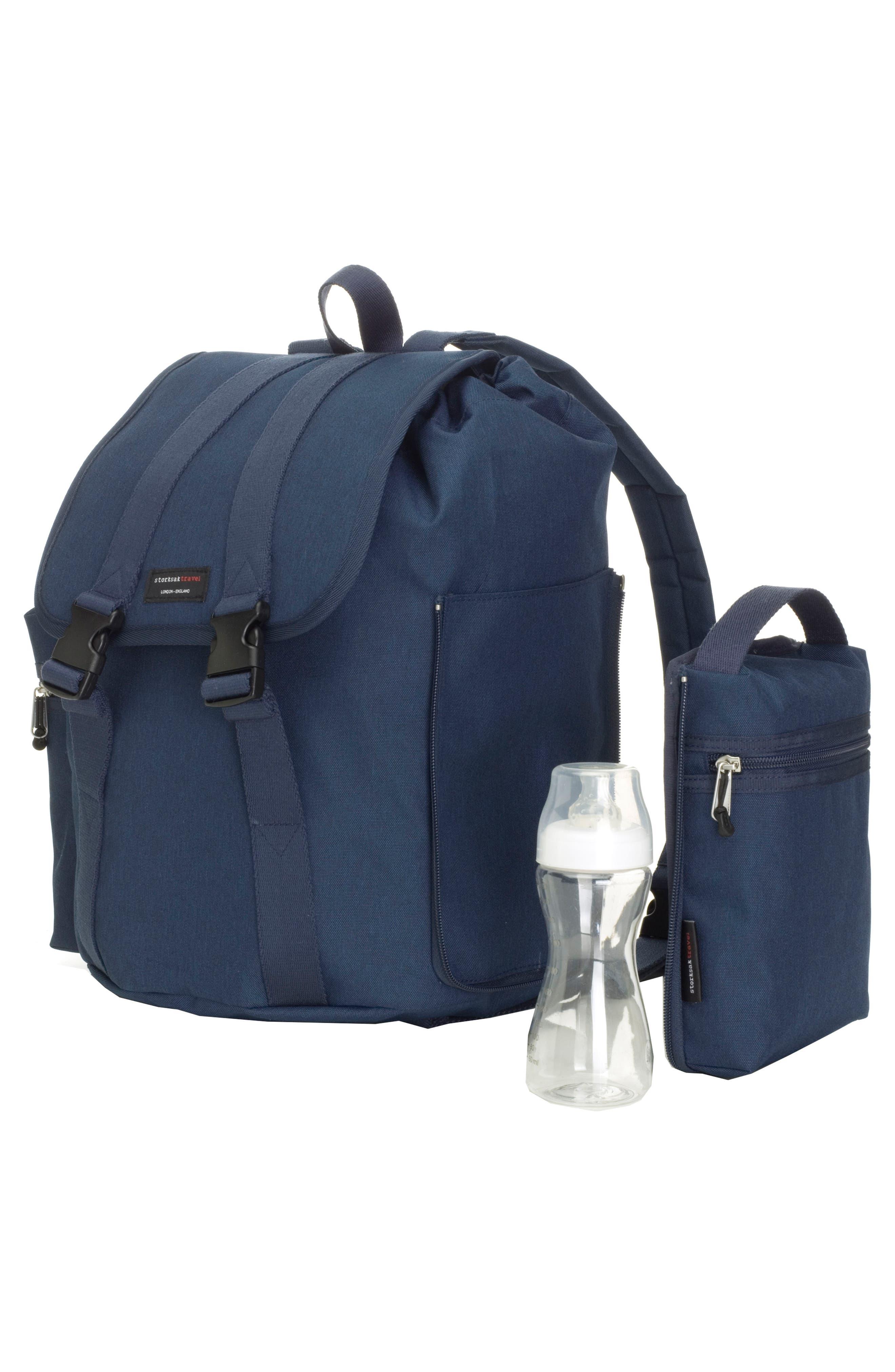 Travel Backpack Diaper Bag,                             Alternate thumbnail 3, color,                             Navy