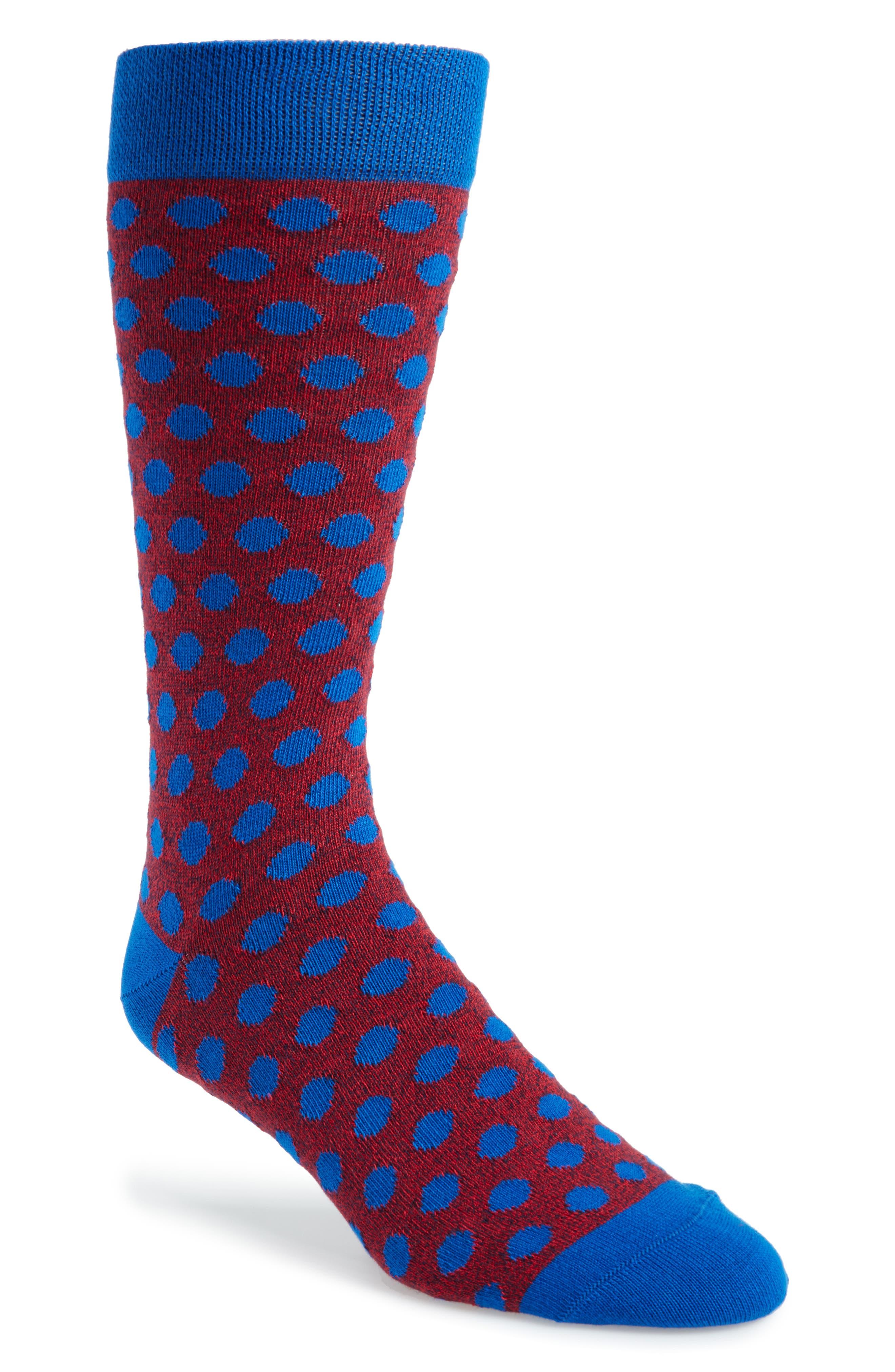 Spot Socks,                             Main thumbnail 1, color,                             Blue