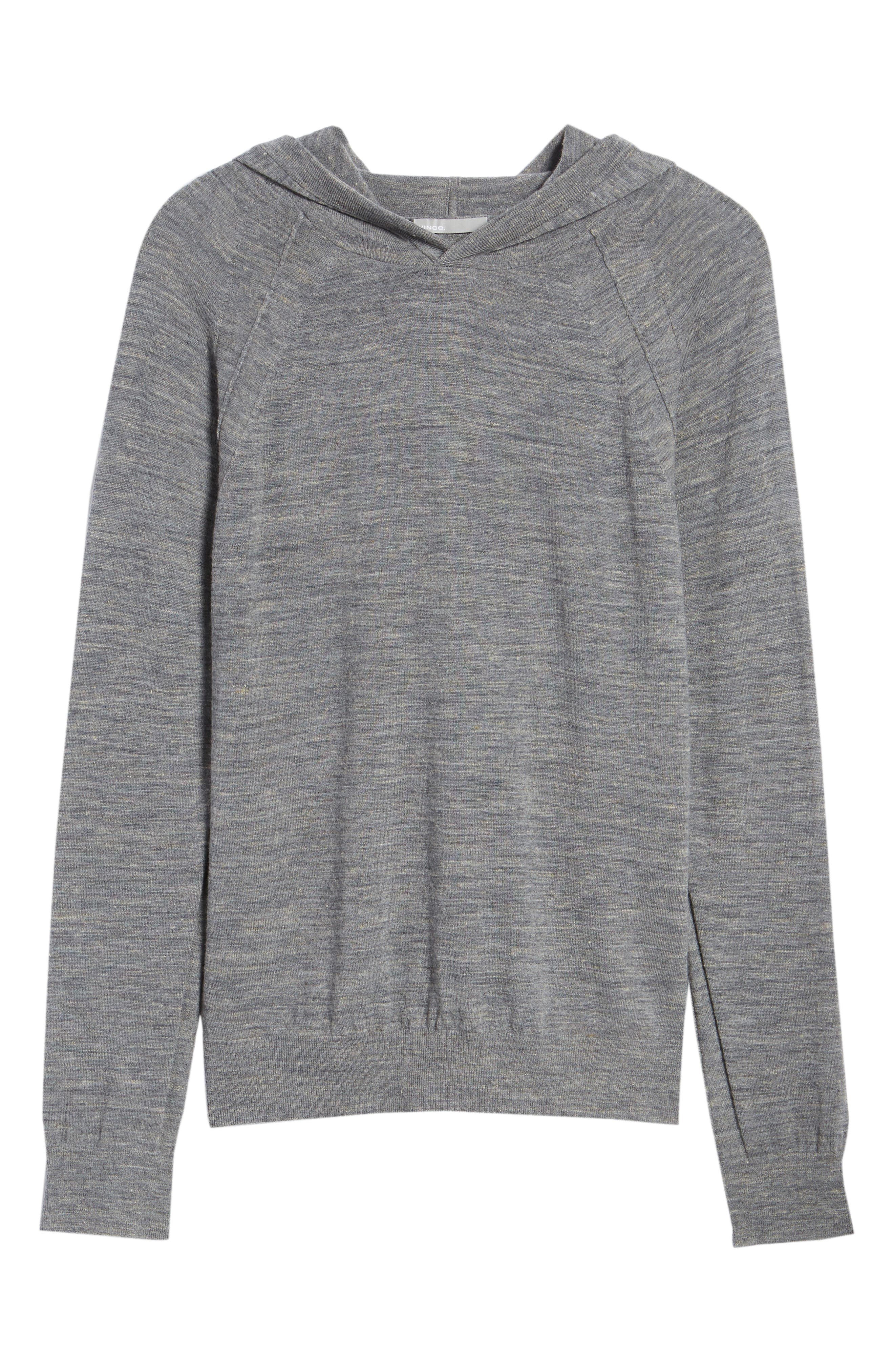 Long Sleeve Pullover Hoodie,                             Alternate thumbnail 6, color,                             Smoke