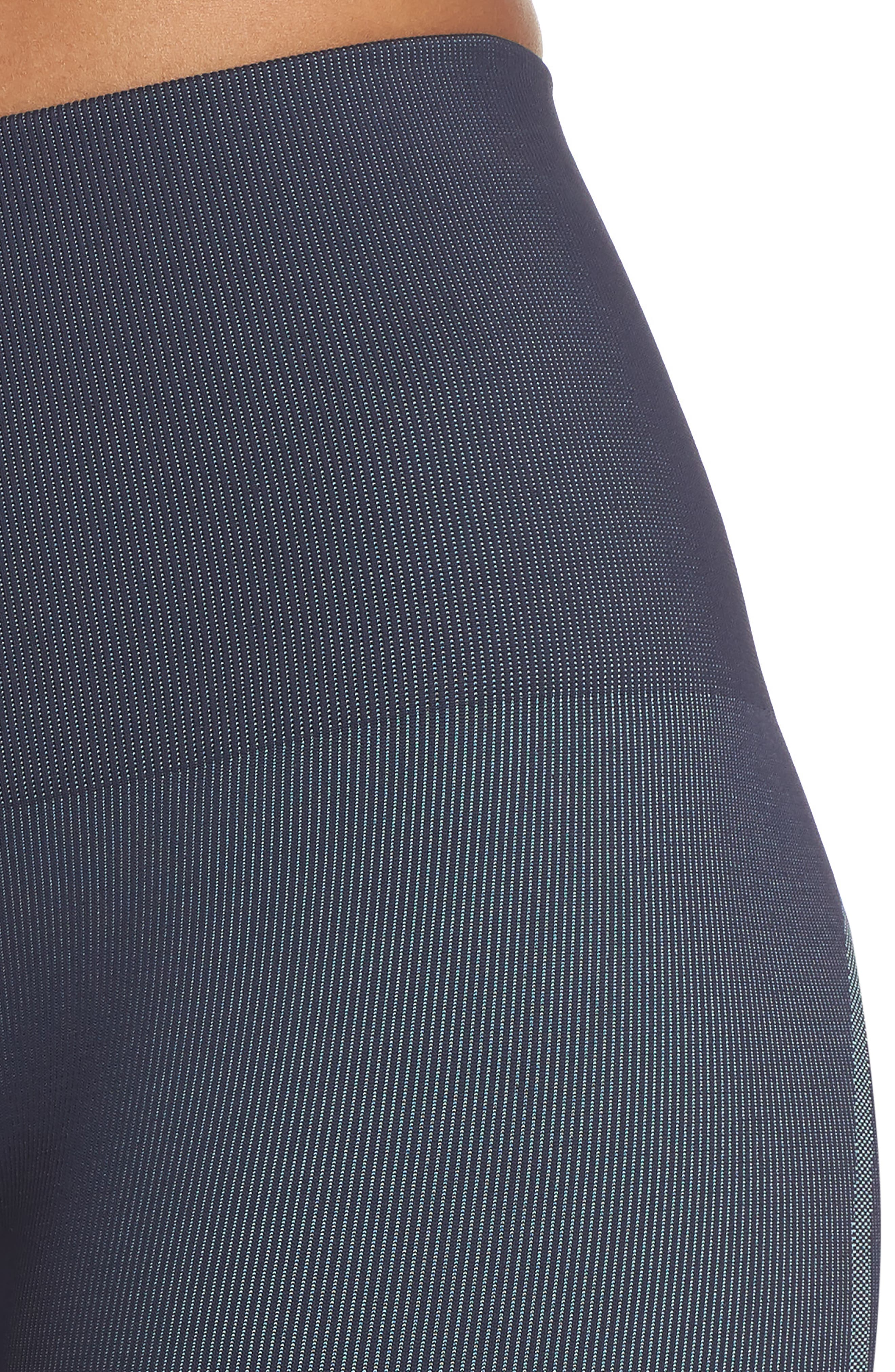 Spectrum High Waist Seamless Leggings,                             Alternate thumbnail 3, color,                             Deep Sea Navy