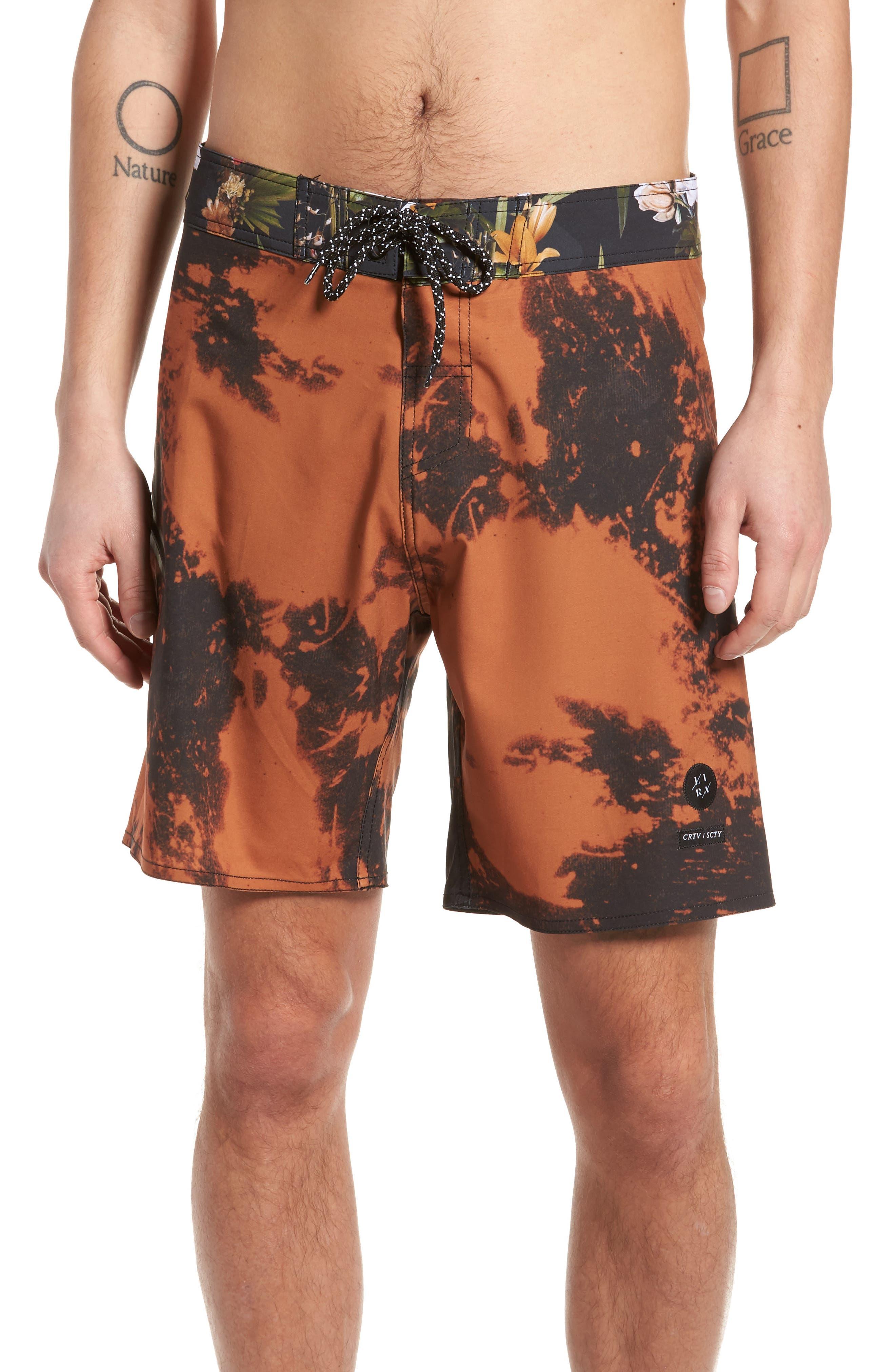 Tandem Swim Shorts,                             Main thumbnail 1, color,                             Black