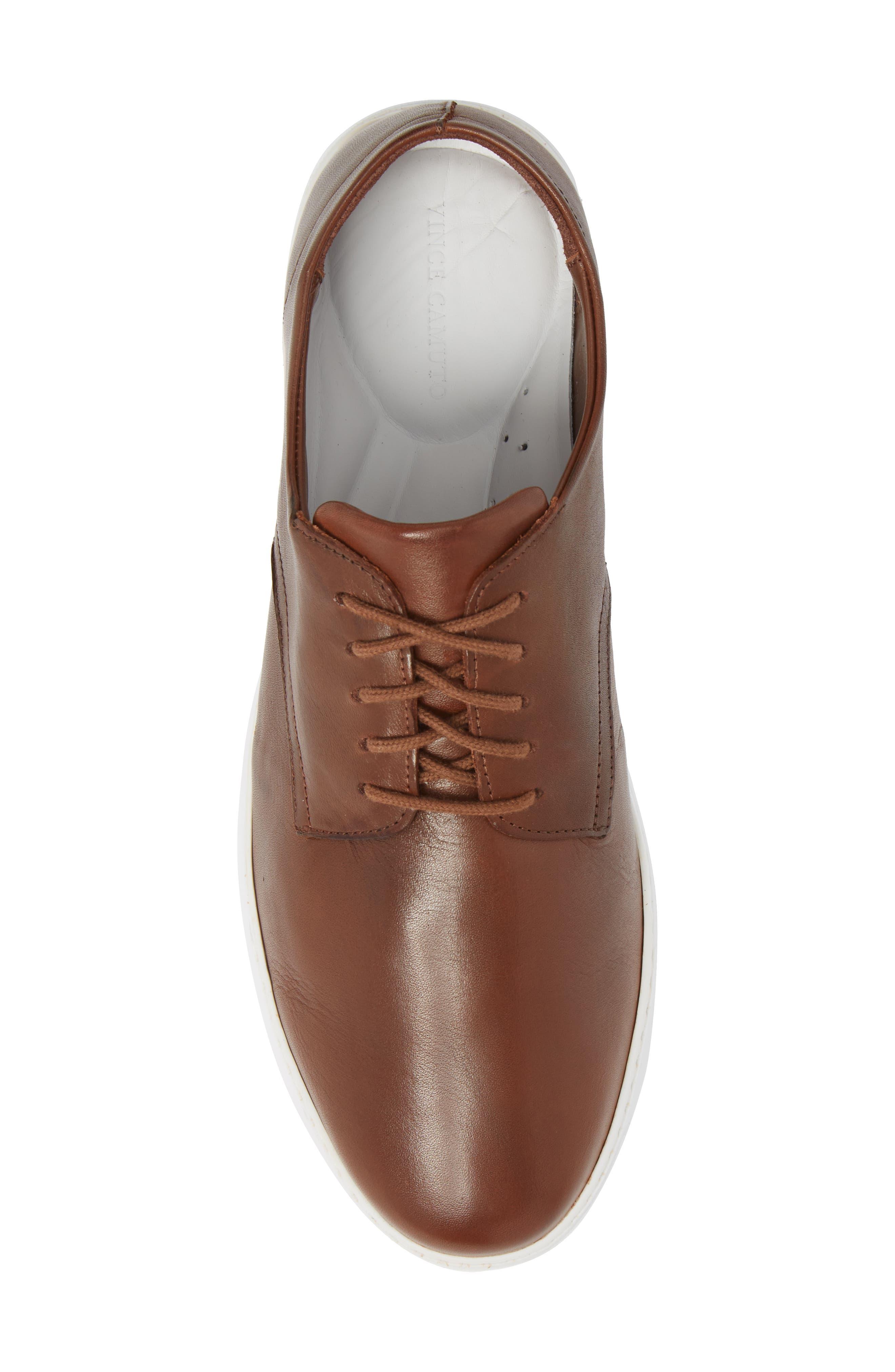 Nok Derby Sneaker,                             Alternate thumbnail 5, color,                             Brown Leather
