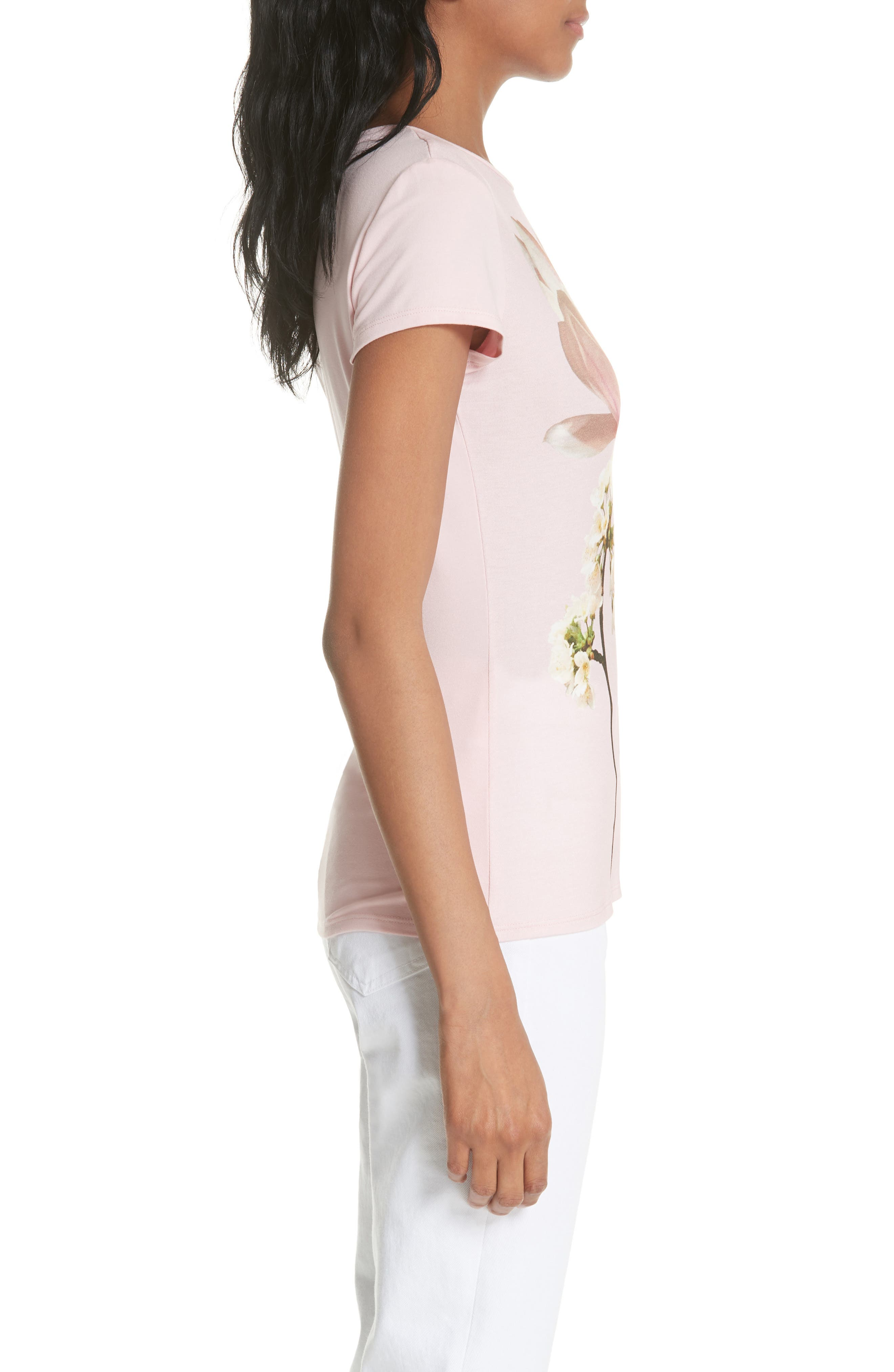Ameliza Harmony Fitted Tee,                             Alternate thumbnail 3, color,                             Pale Pink