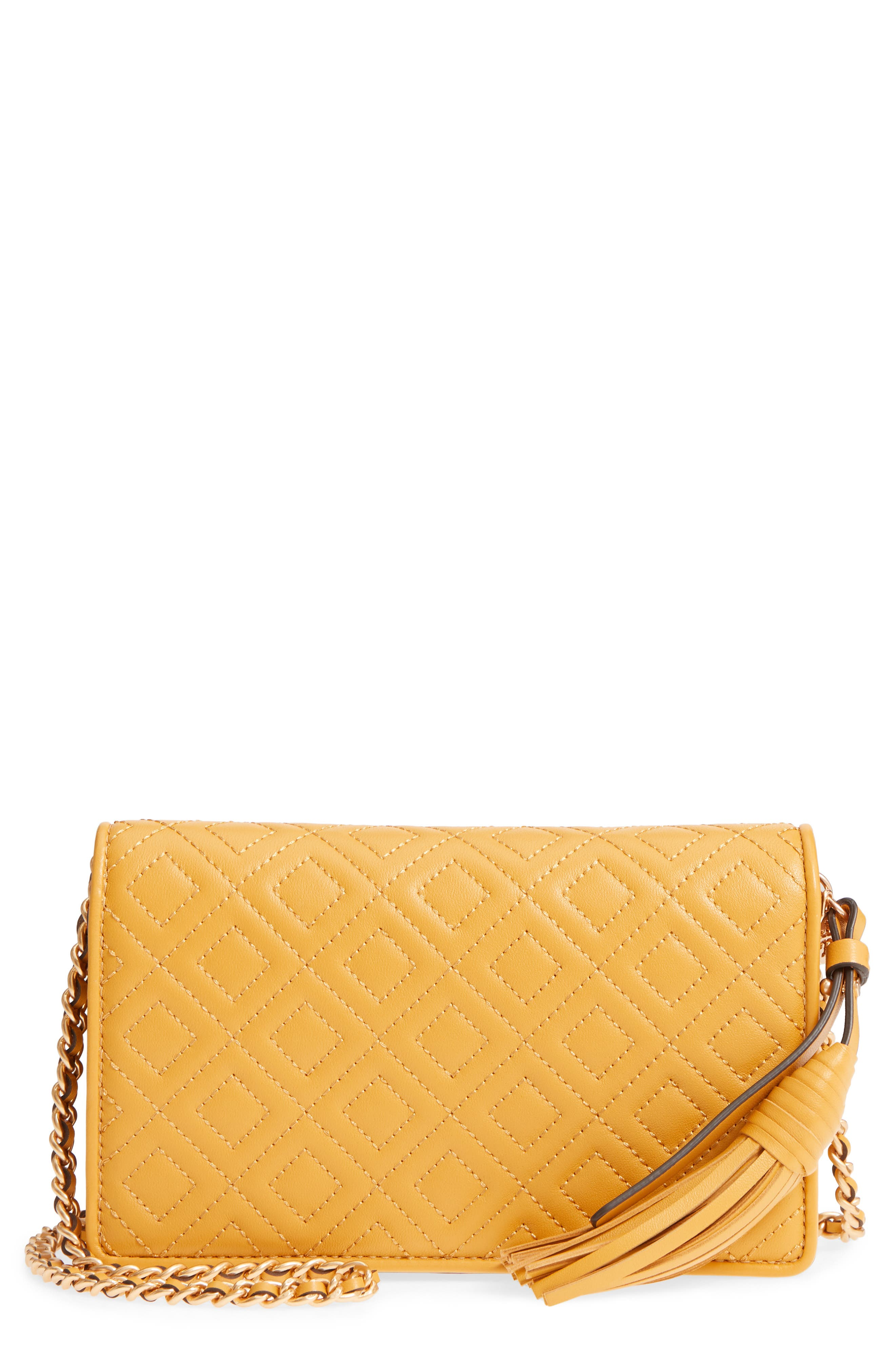 Fleming Leather Wallet/Crossbody,                         Main,                         color, Daylily