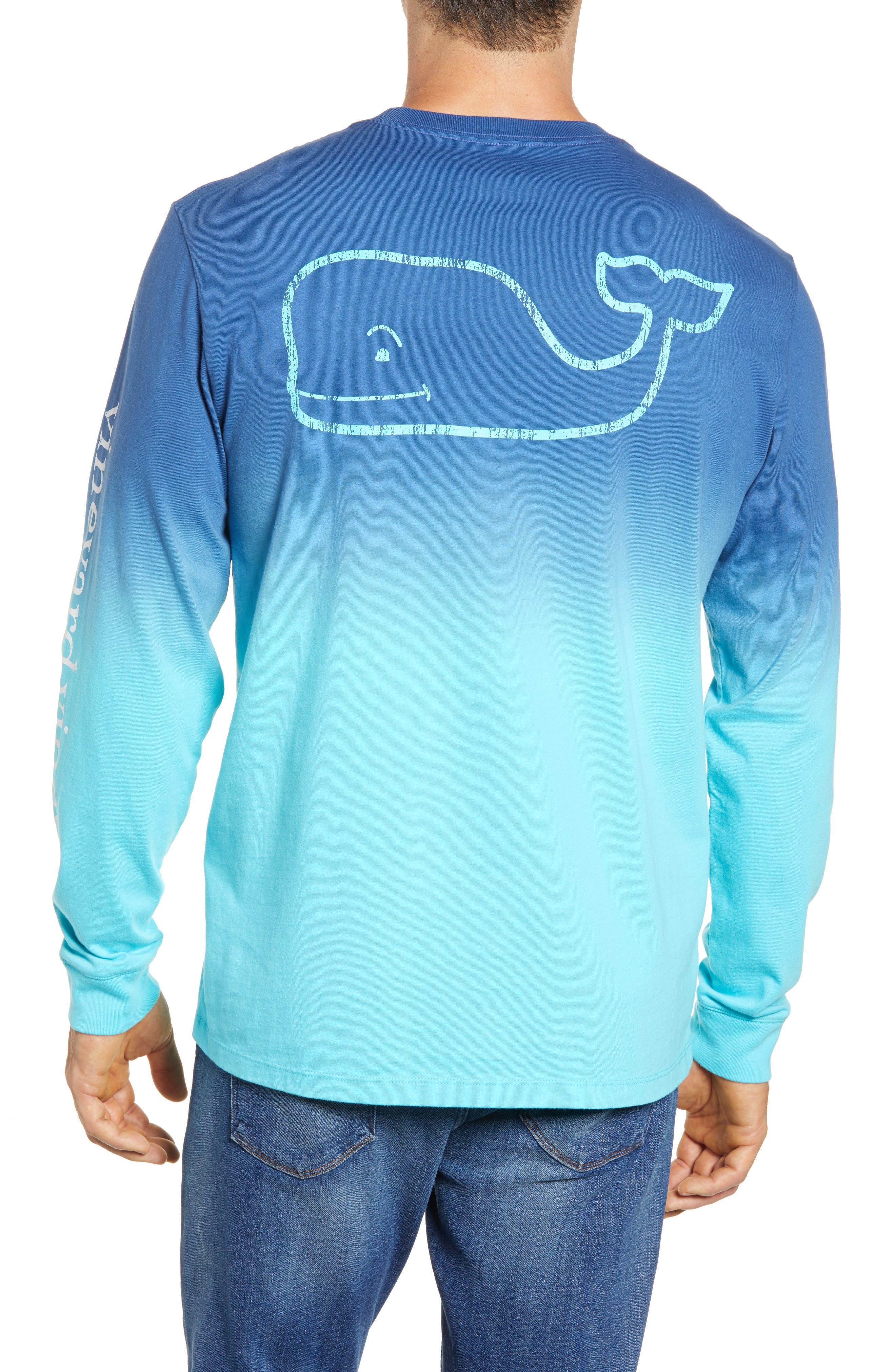 Dip Dye Two-Tone Whale Pocket T-Shirt,                             Alternate thumbnail 2, color,                             Moonshine