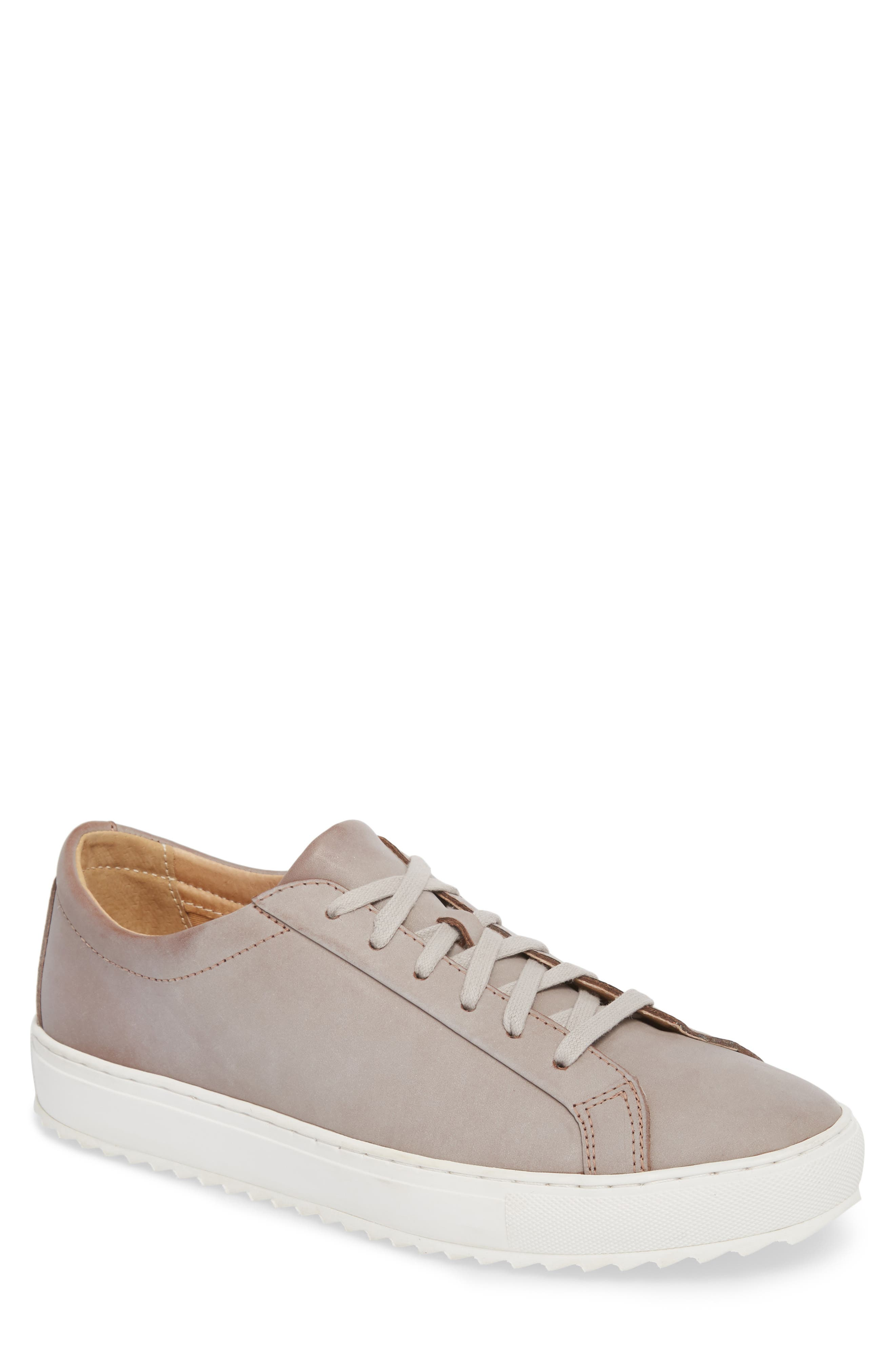 Kennedy Lugged Sneaker,                         Main,                         color, Sand Stone Leather
