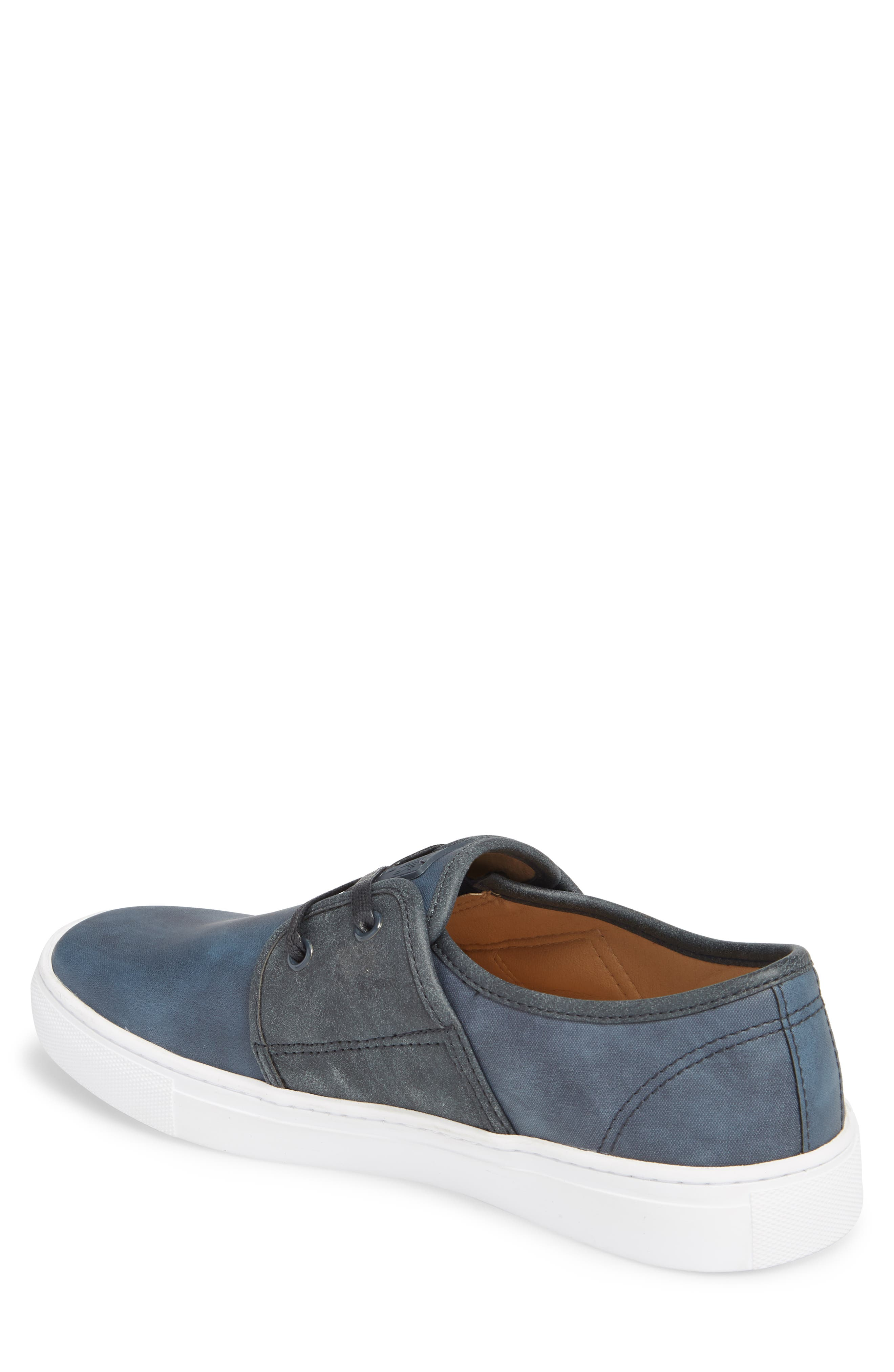 Toronto Low Top Sneaker,                             Alternate thumbnail 2, color,                             Navy Faux Suede