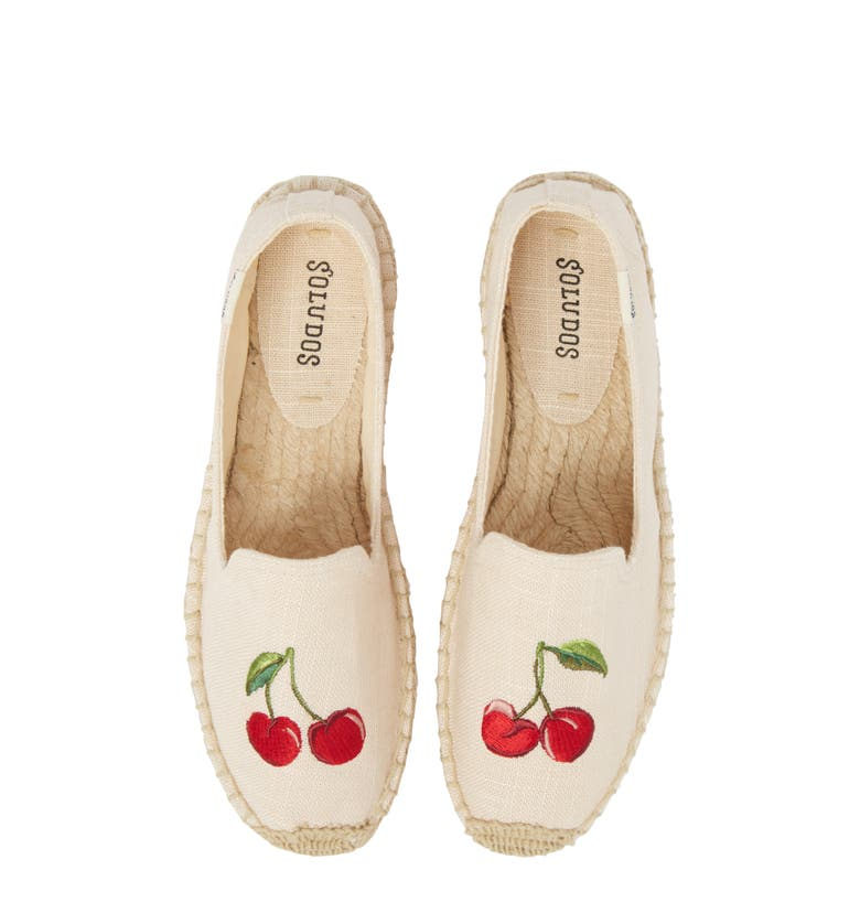 Cherries Embroidered Espadrille, Main, color, Blush