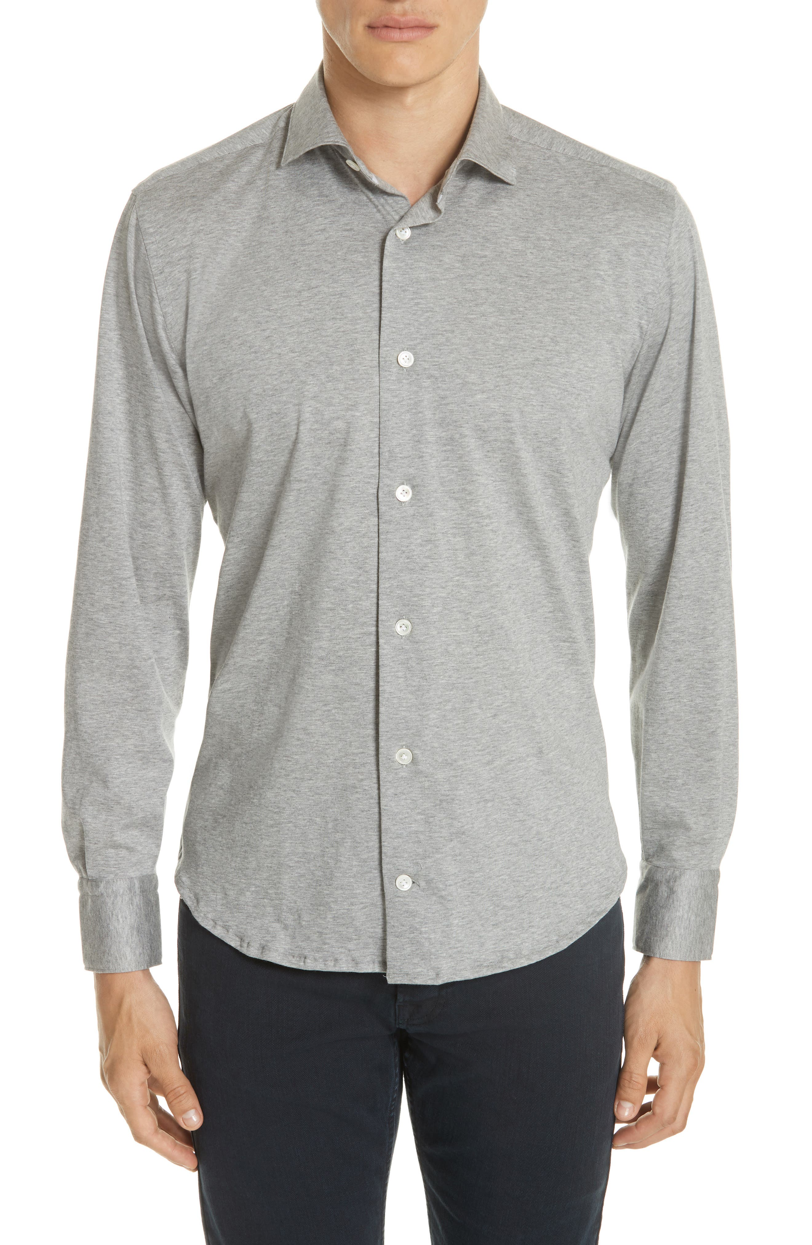 Eleventy Slim Fit Knit Shirt
