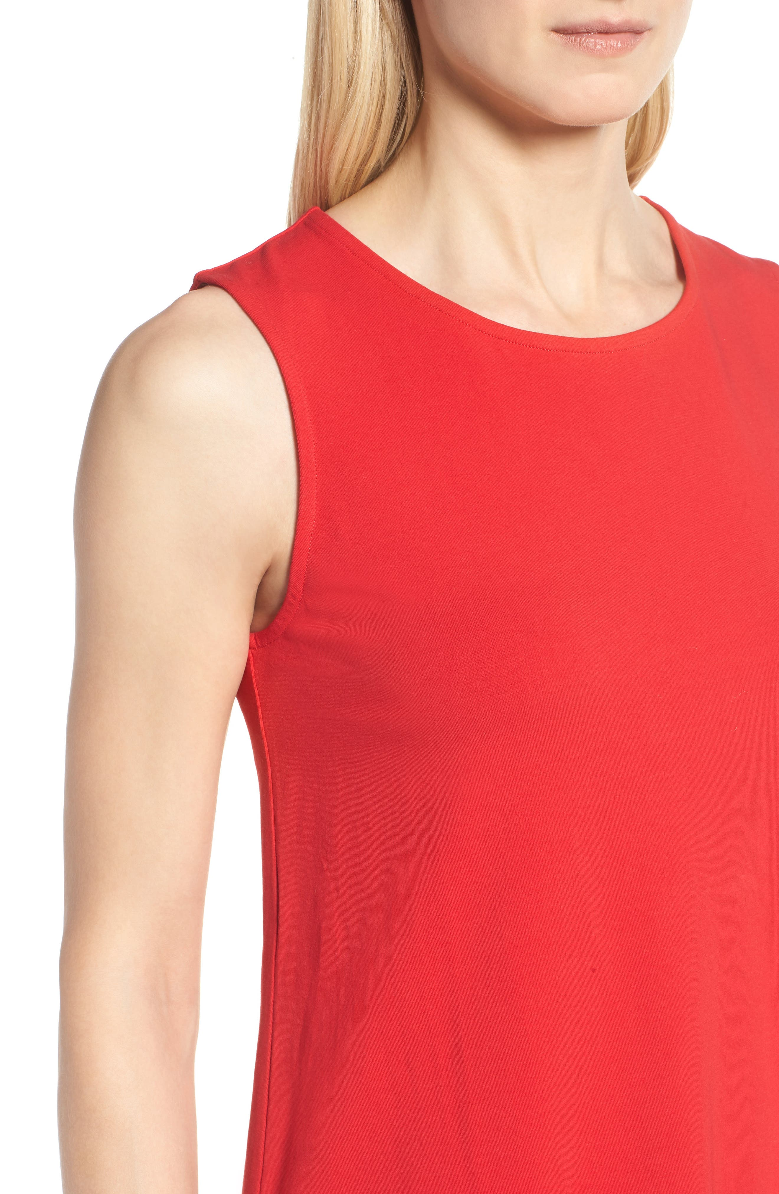 Sweet Escape Tank Dress,                             Alternate thumbnail 4, color,                             Red Sangria