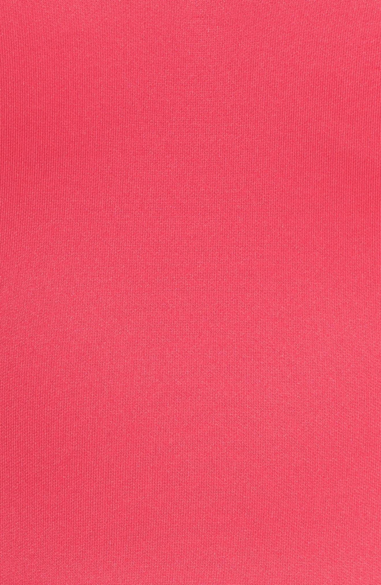 Lace Back Scuba Dress,                             Alternate thumbnail 5, color,                             Hot Pink/ Black
