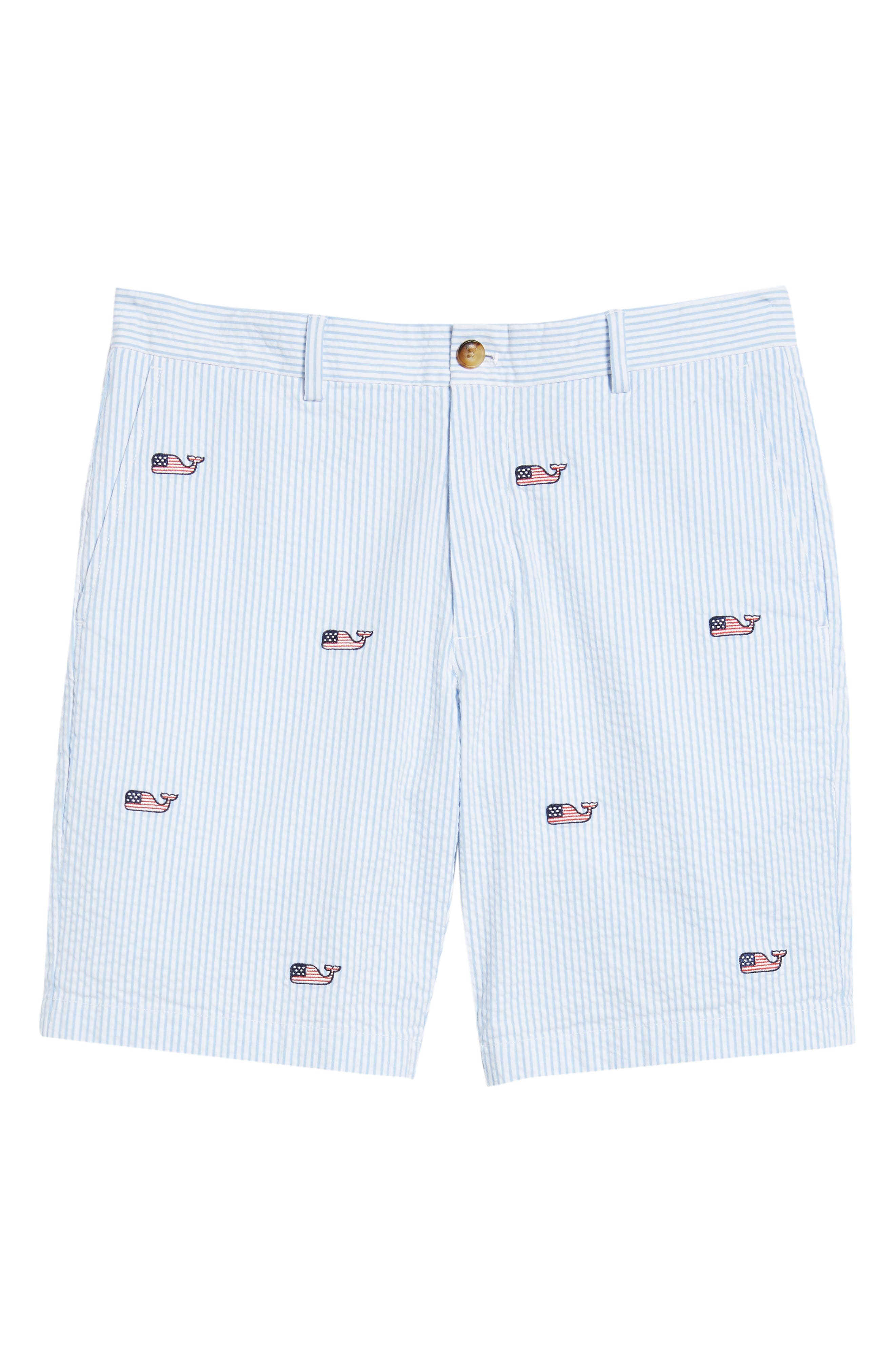 Seersucker Whale Shorts,                             Alternate thumbnail 6, color,                             Ocean Breeze