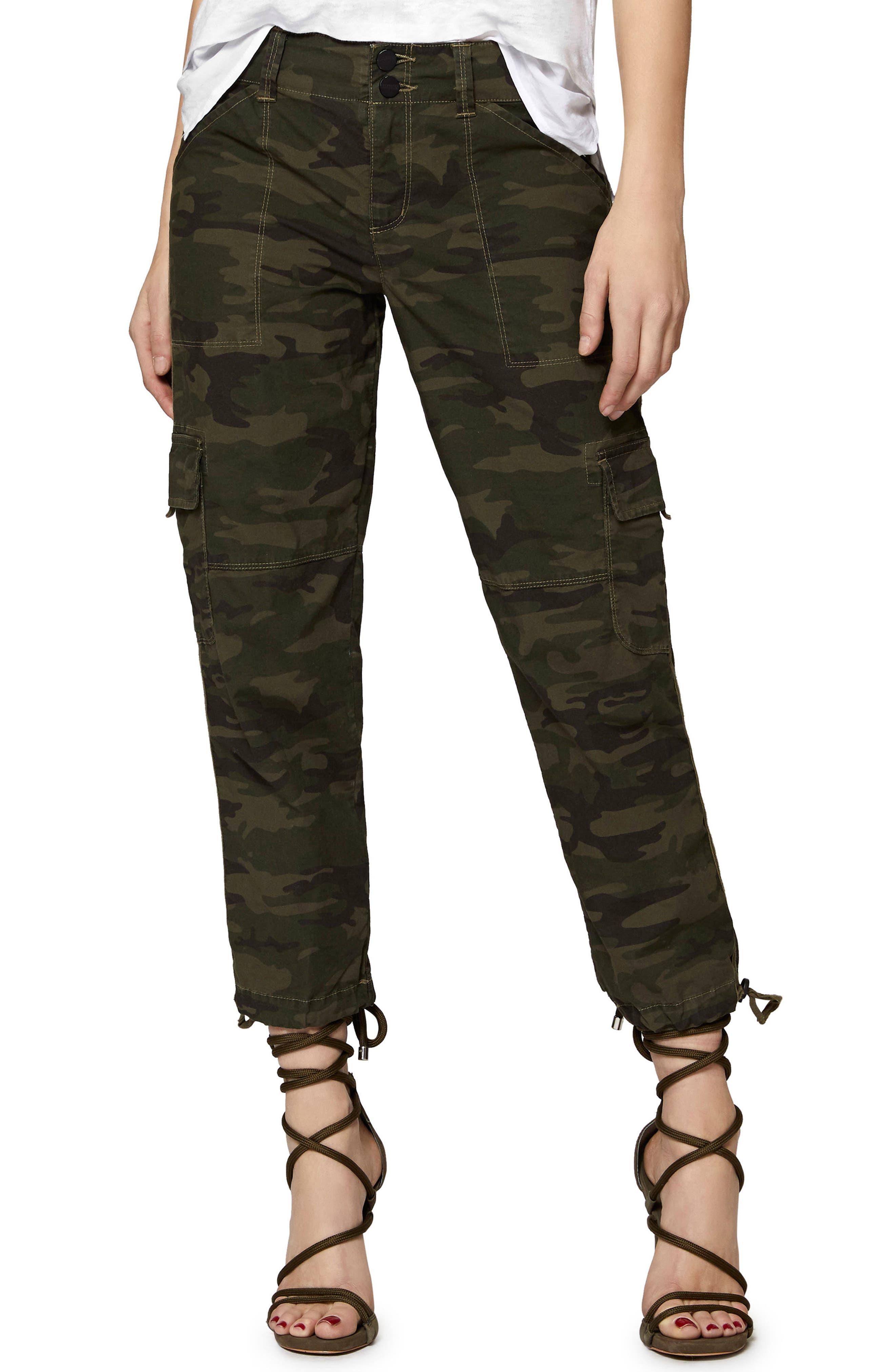 Terrain Crop Cargo Pants,                         Main,                         color, Mother Nature Camo