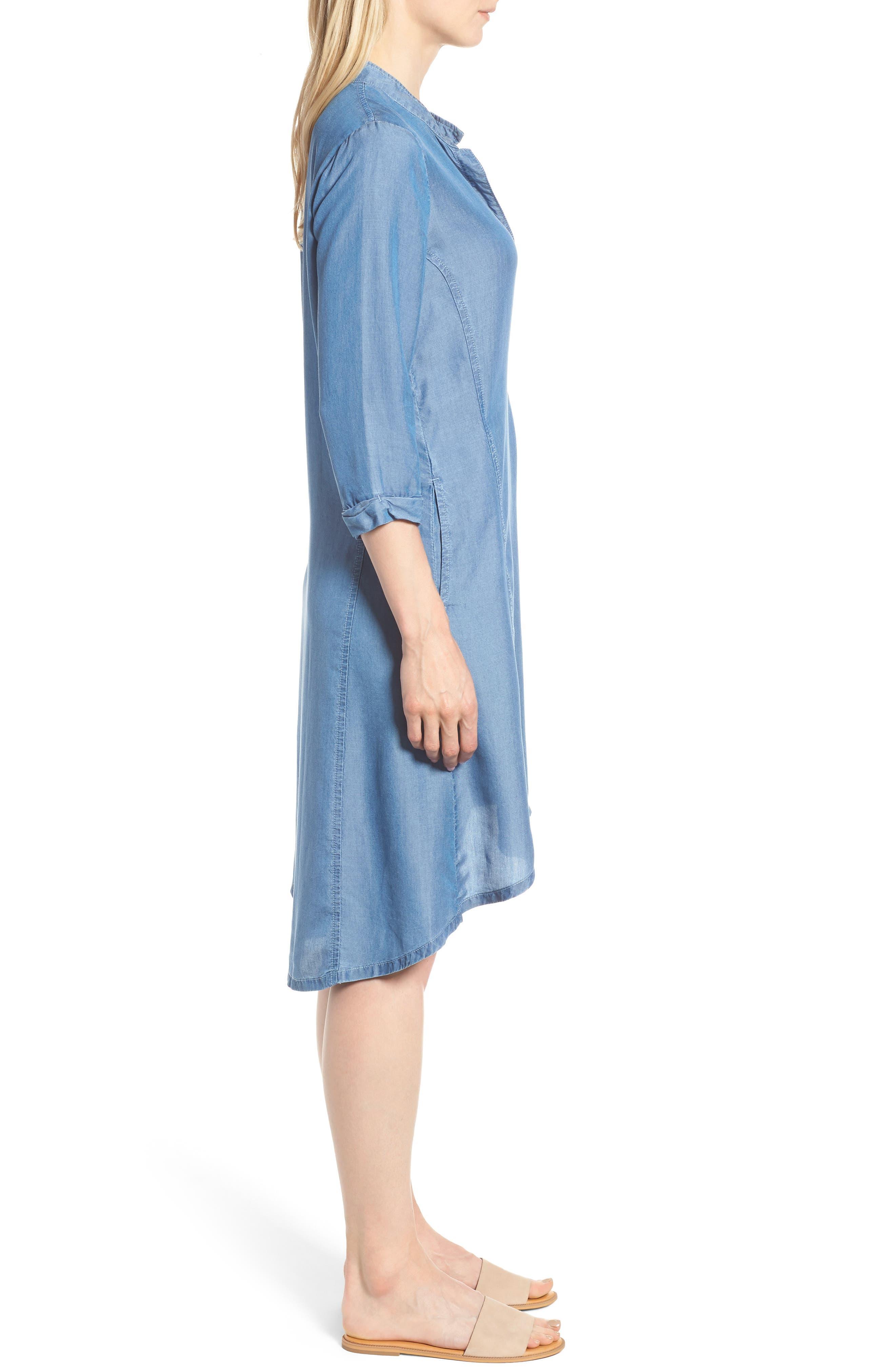 Festival Moonlit Tunic Dress,                             Alternate thumbnail 3, color,                             Blue Haze