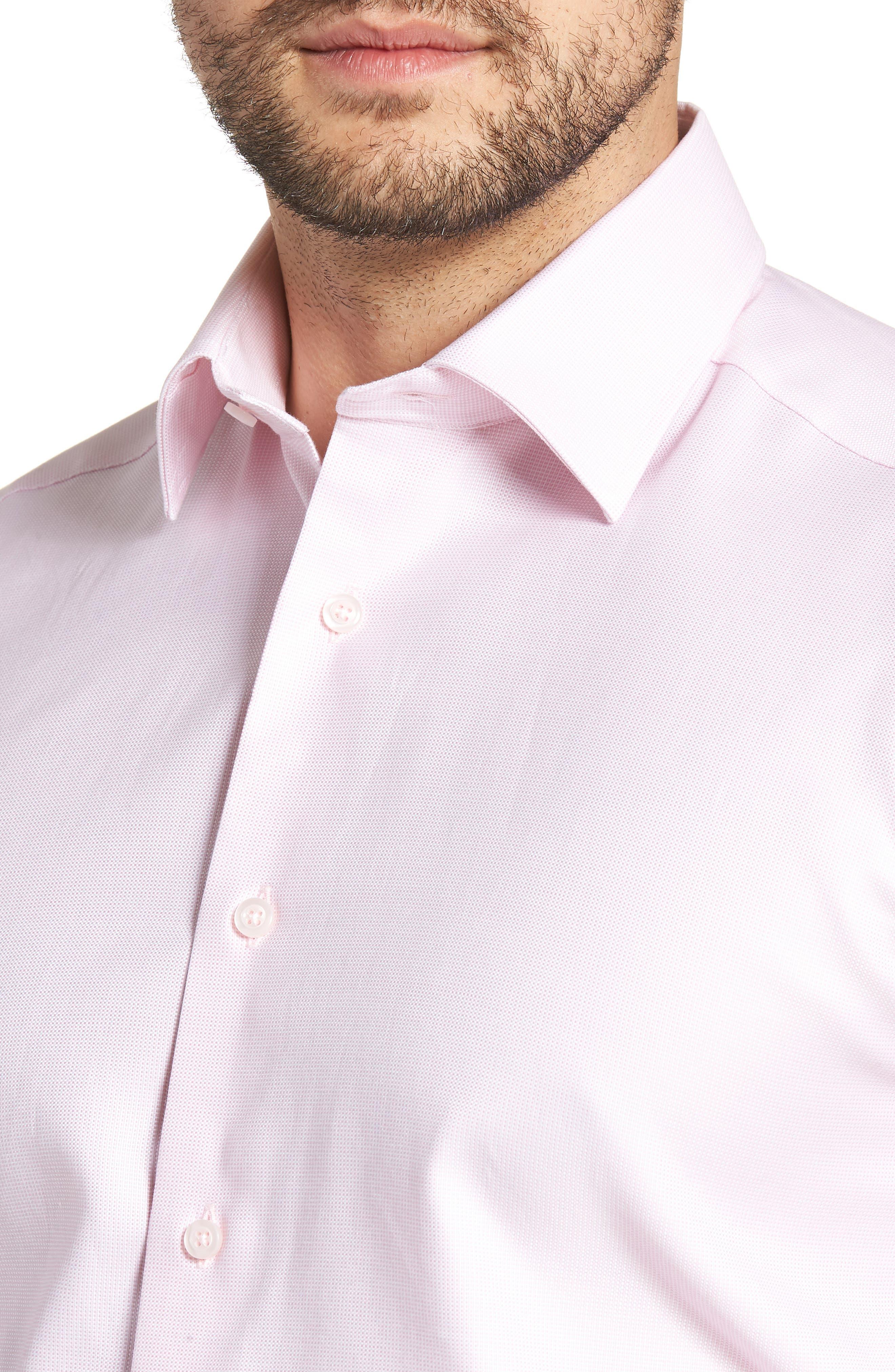 Regular Fit Solid Dress Shirt,                             Alternate thumbnail 2, color,                             Pink